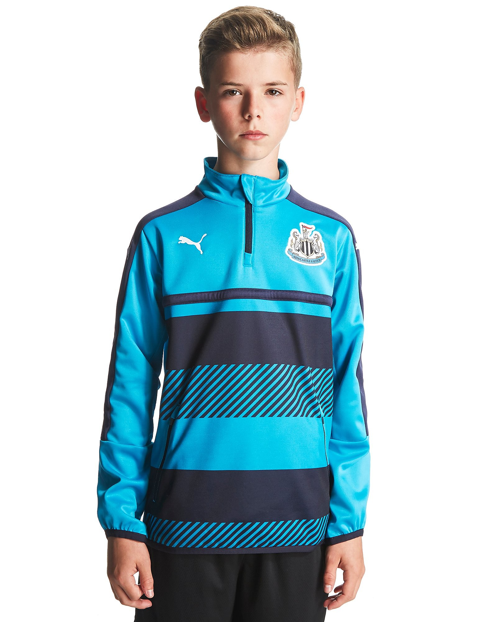 PUMA Newcastle United FC Quarter Zip Training Top Jnr