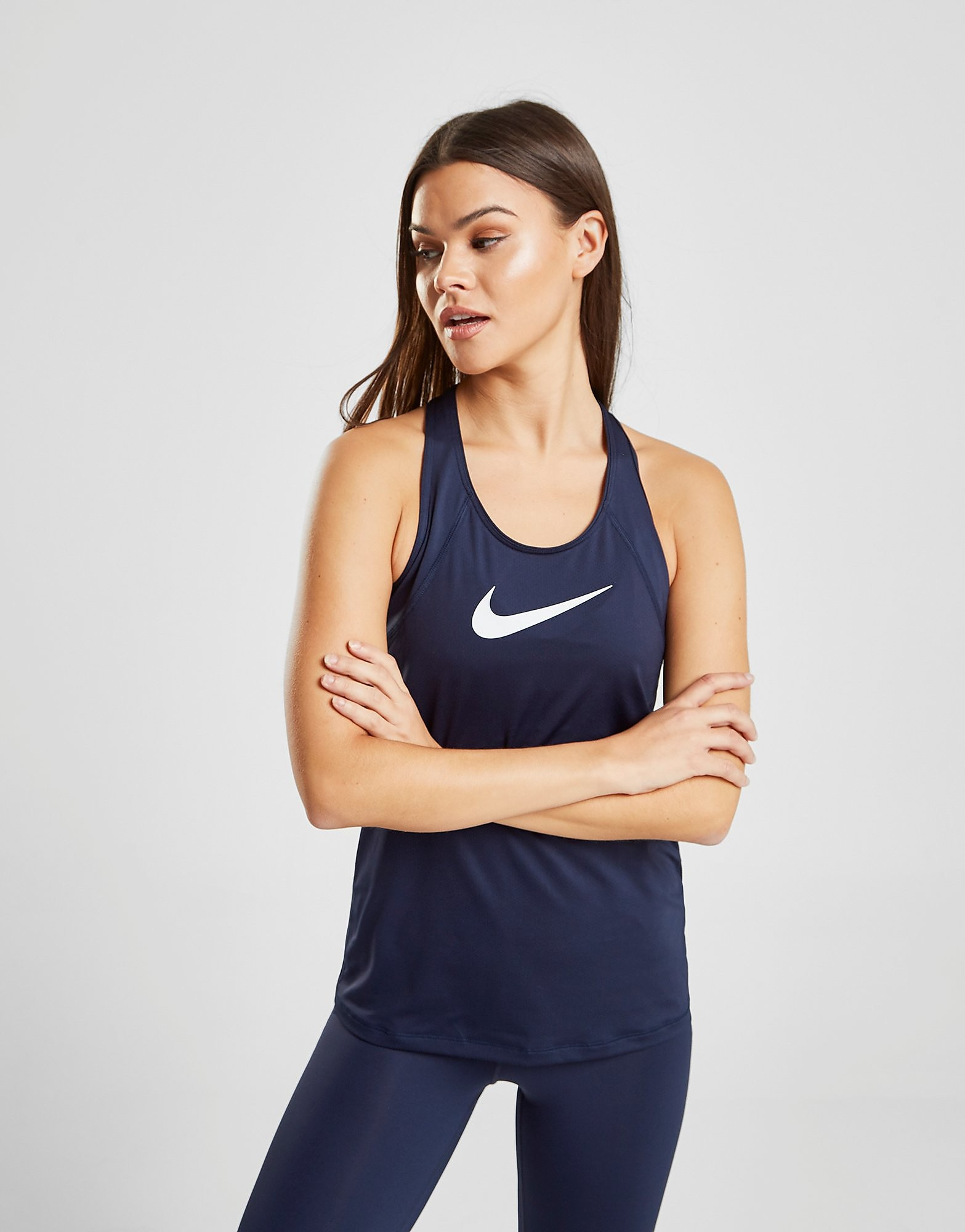 Nike Pro Training Tank Top Dames - Blauw - Dames
