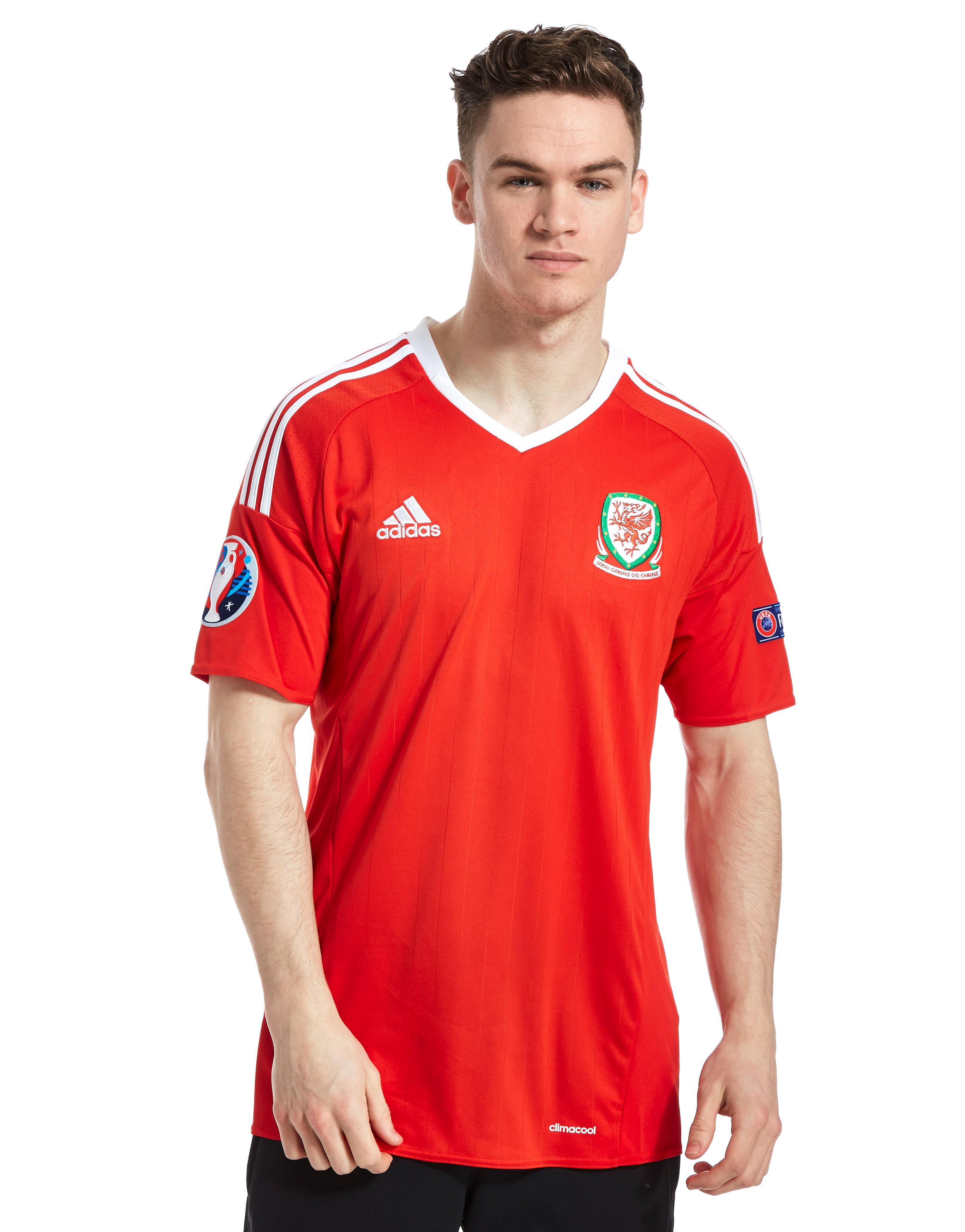 adidas FA Wales Home Pre Badged Euro 16 Shirt