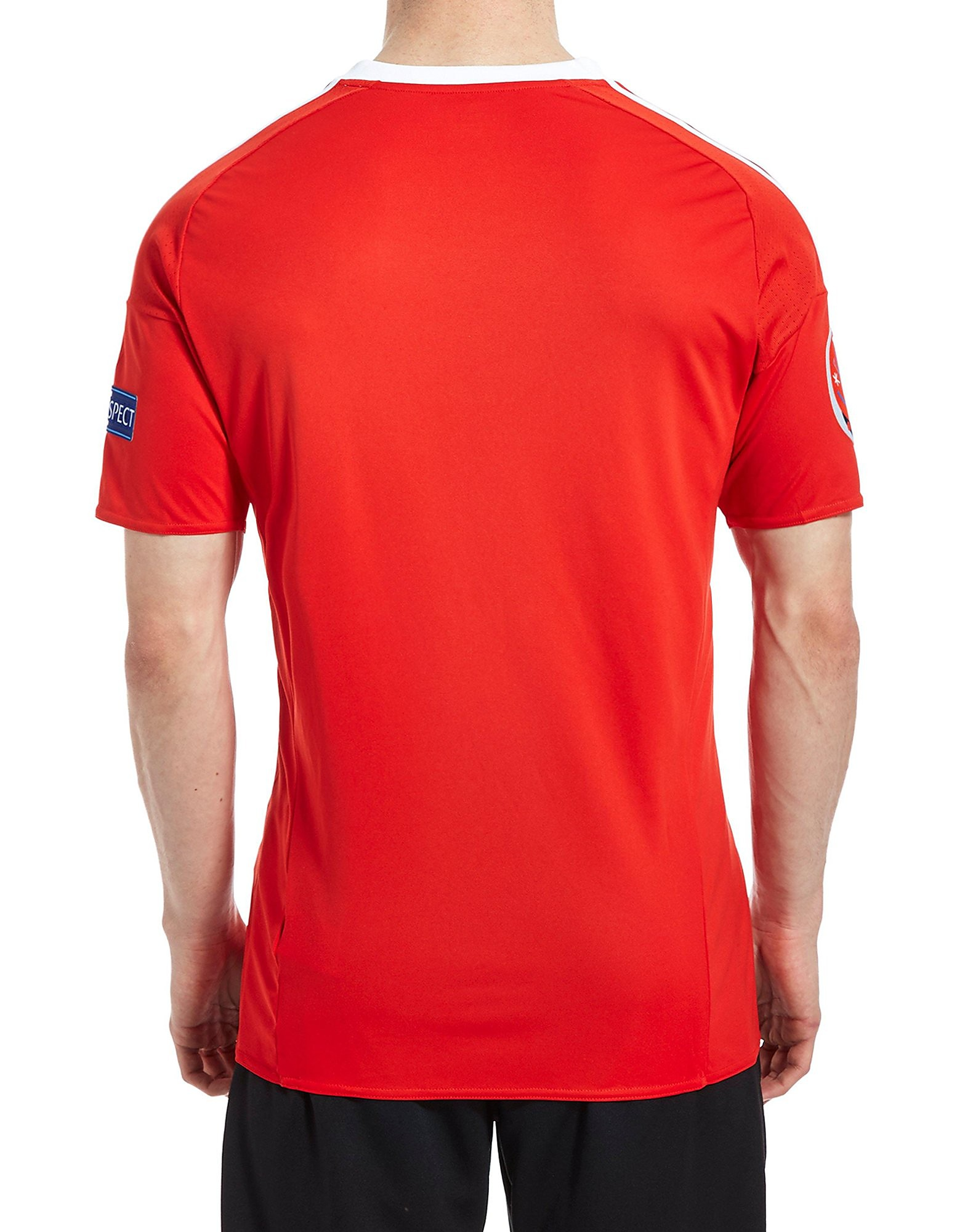 adidas FA Wales Home Pre Badged Euro 16 Shirt