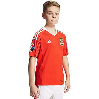 adidas FA Wales Home Pre Badged Euro 16 Shirt Junior