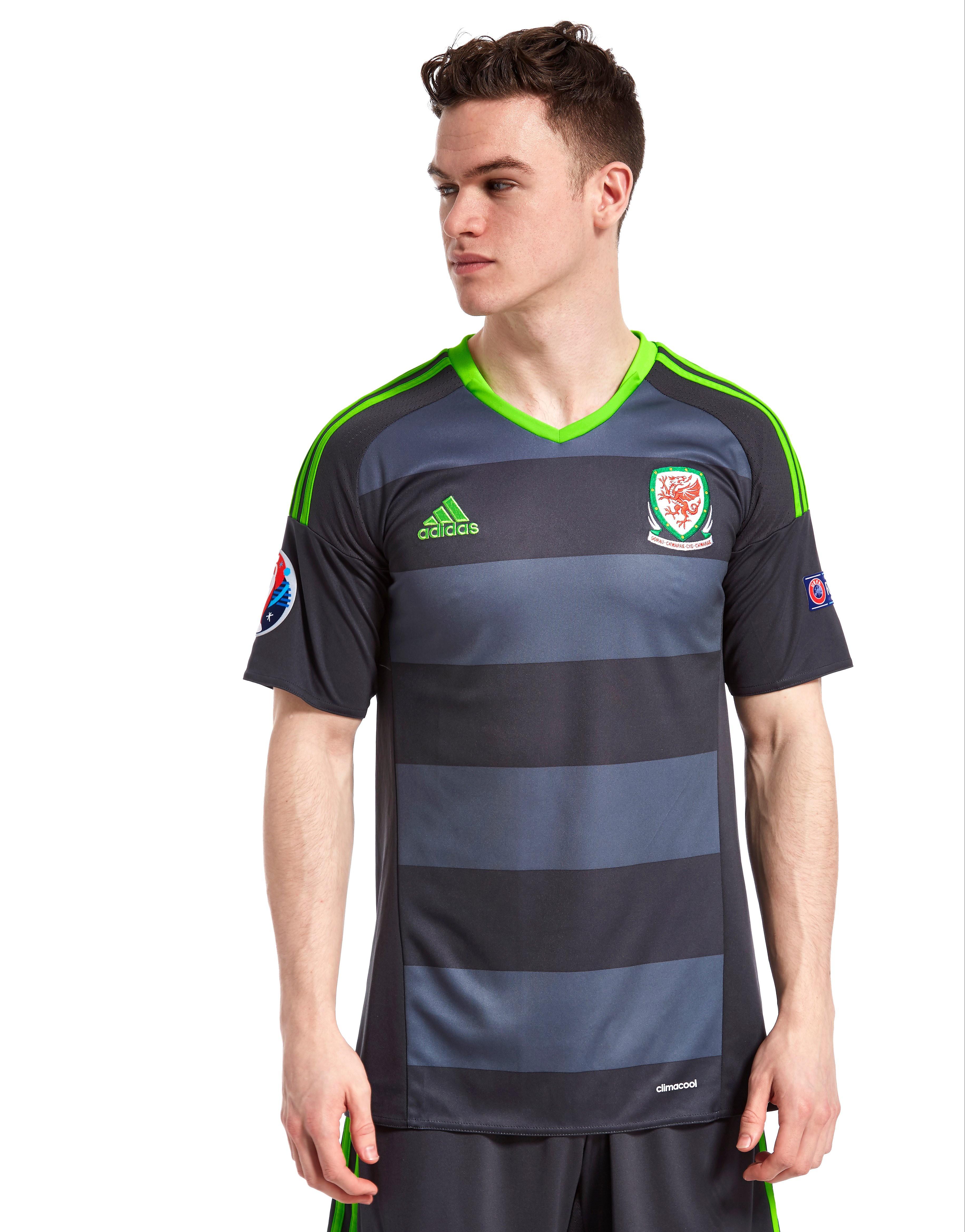 adidas FA Wales Away Pre Badged Euro 16 Shirt