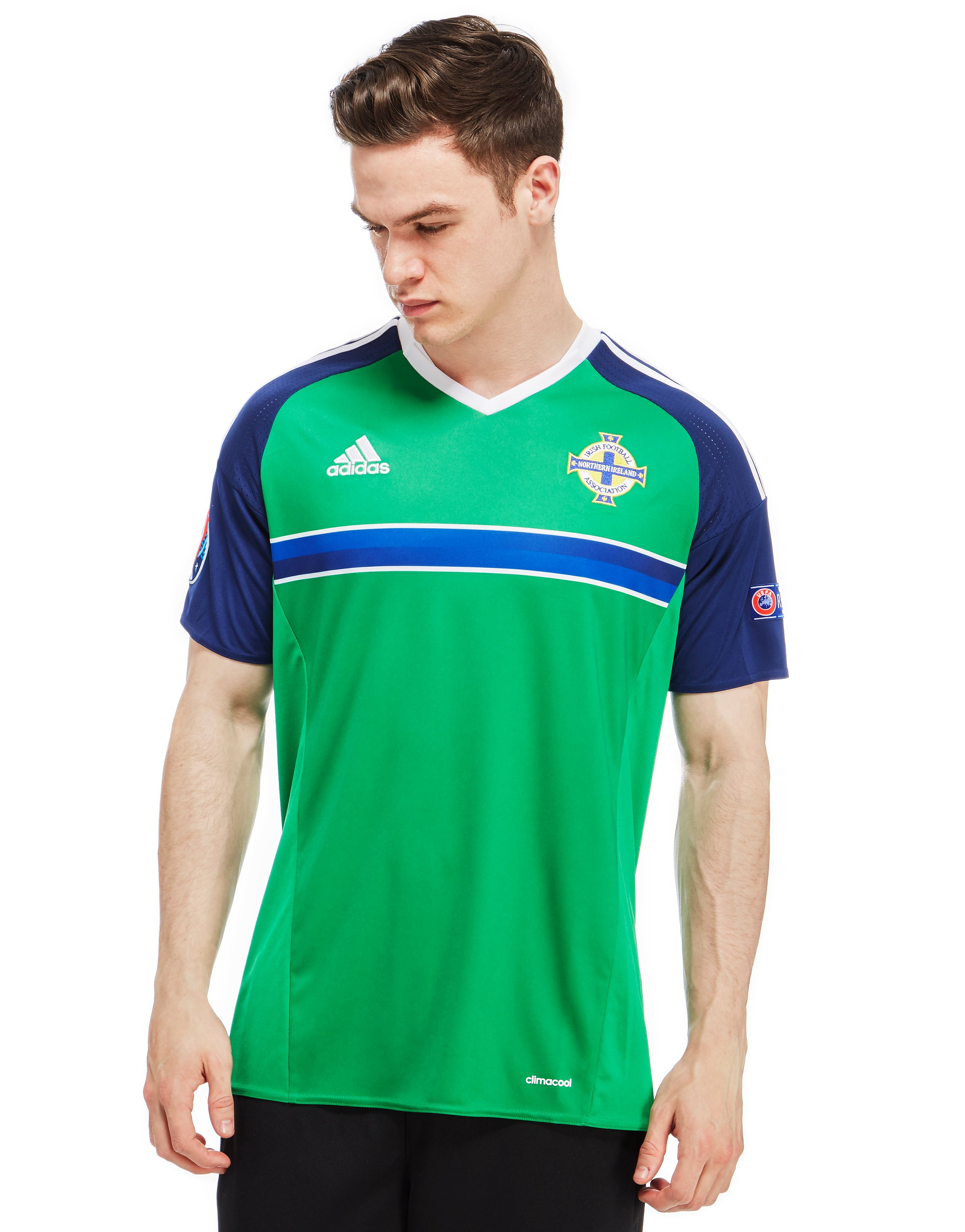 adidas Northern Ireland Home Pre Badged Euro 16 Shirt