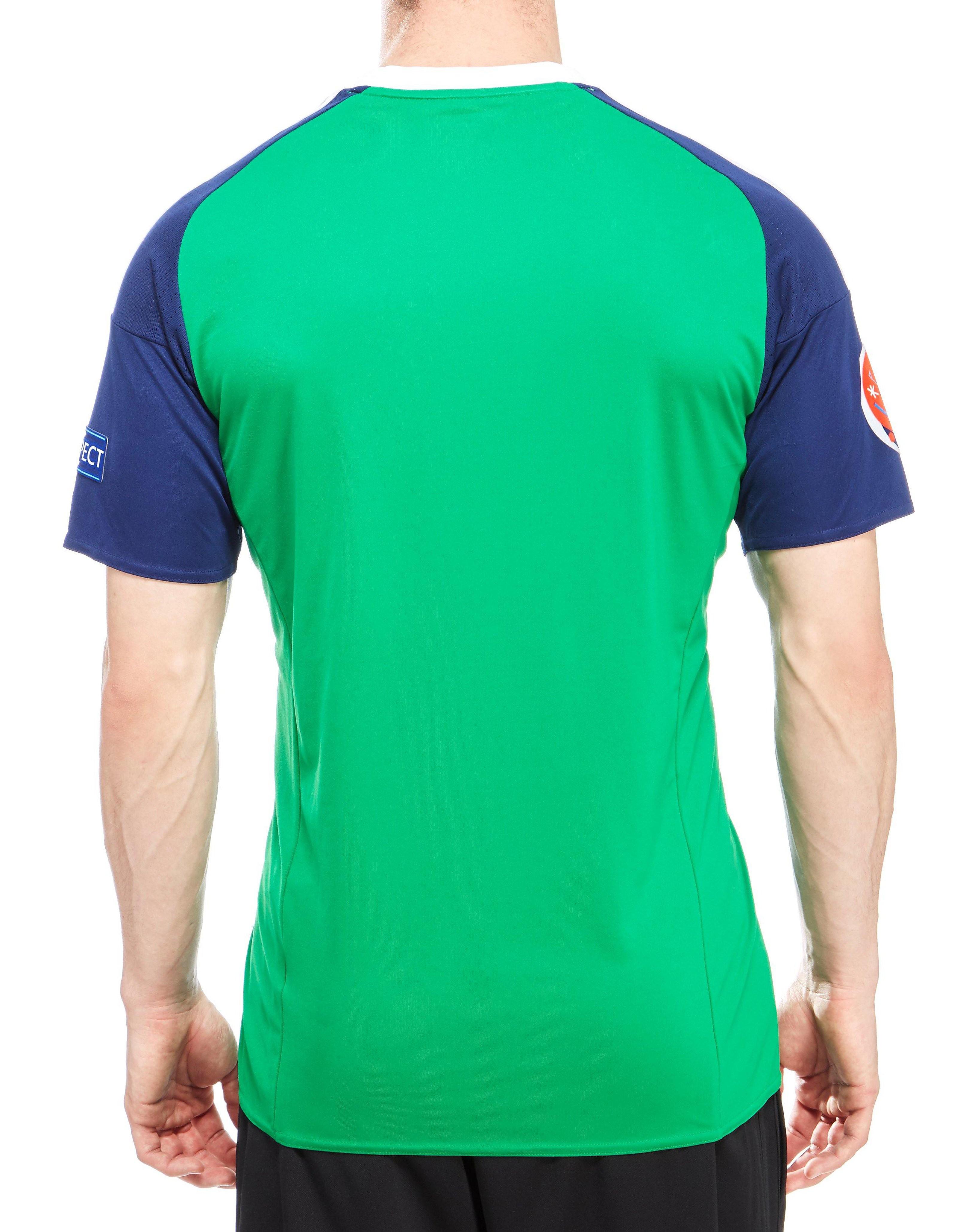 adidas Camiseta de la 1ª equipación del Irlanda del Norte de la Euro 16 sin emblemas