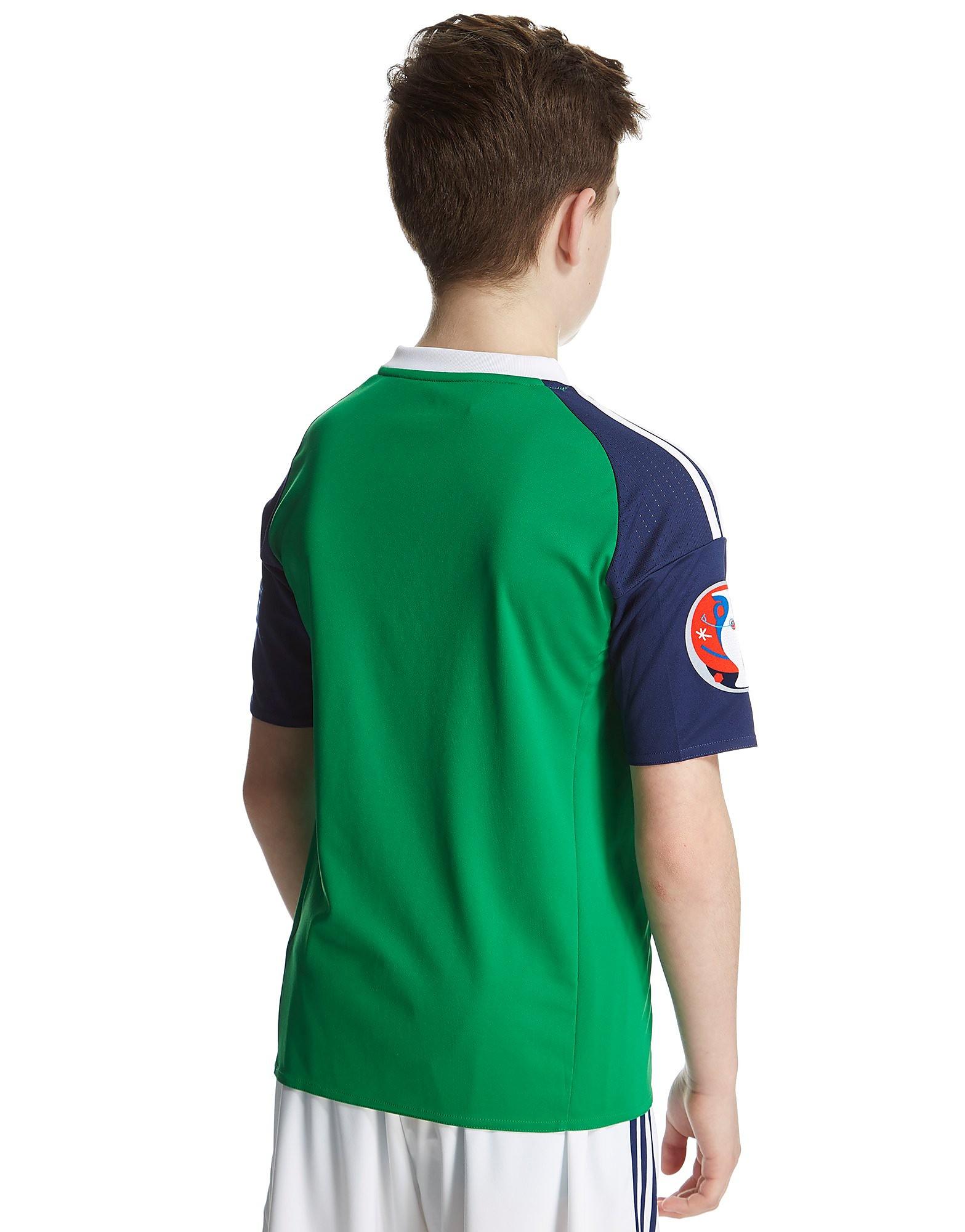 adidas Northern Ireland Home Pre Badged Euro Shirt Jnr