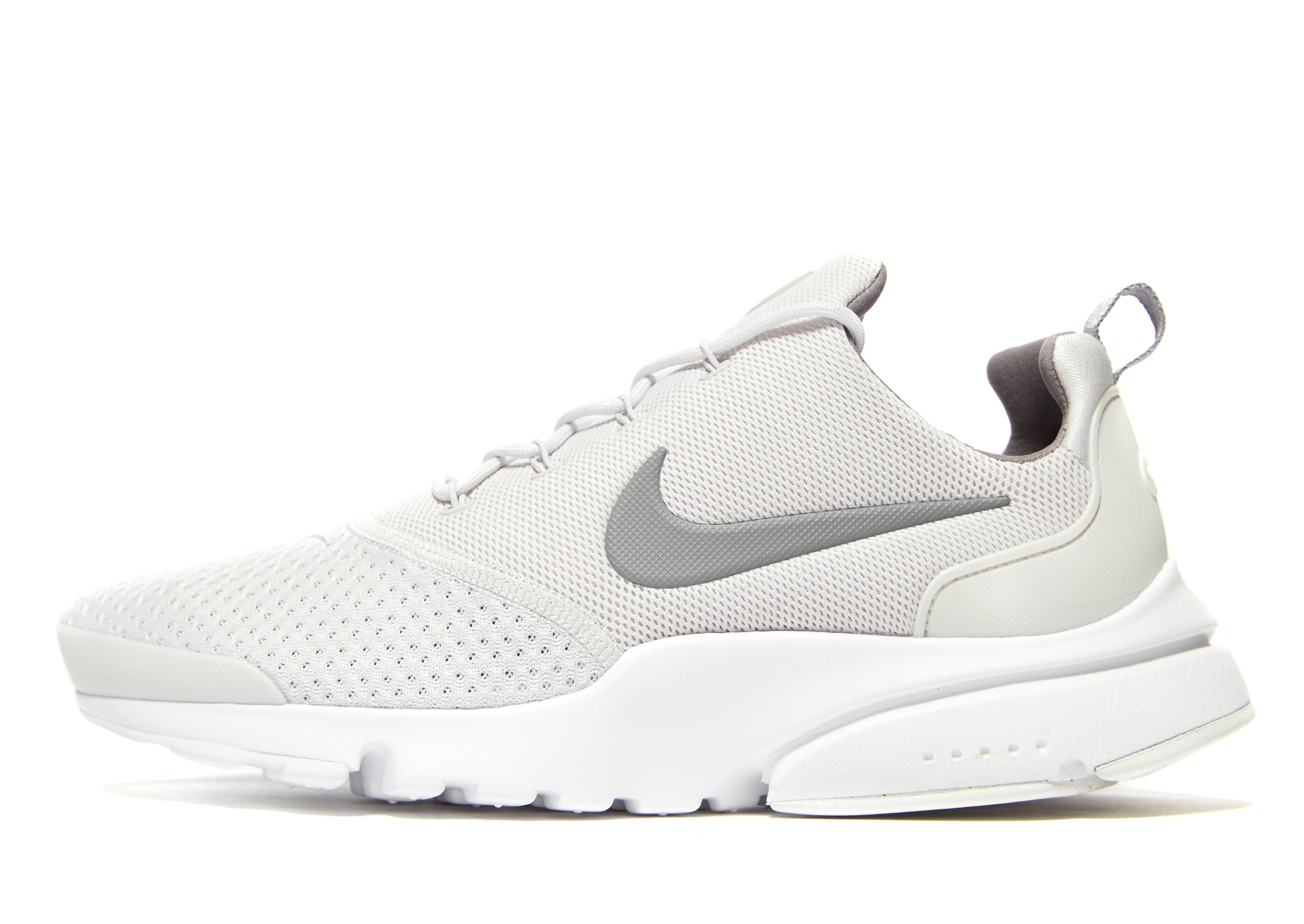 Nike Air Presto Fly SE - Only at JD - Grey/White - Mens, Grey/White