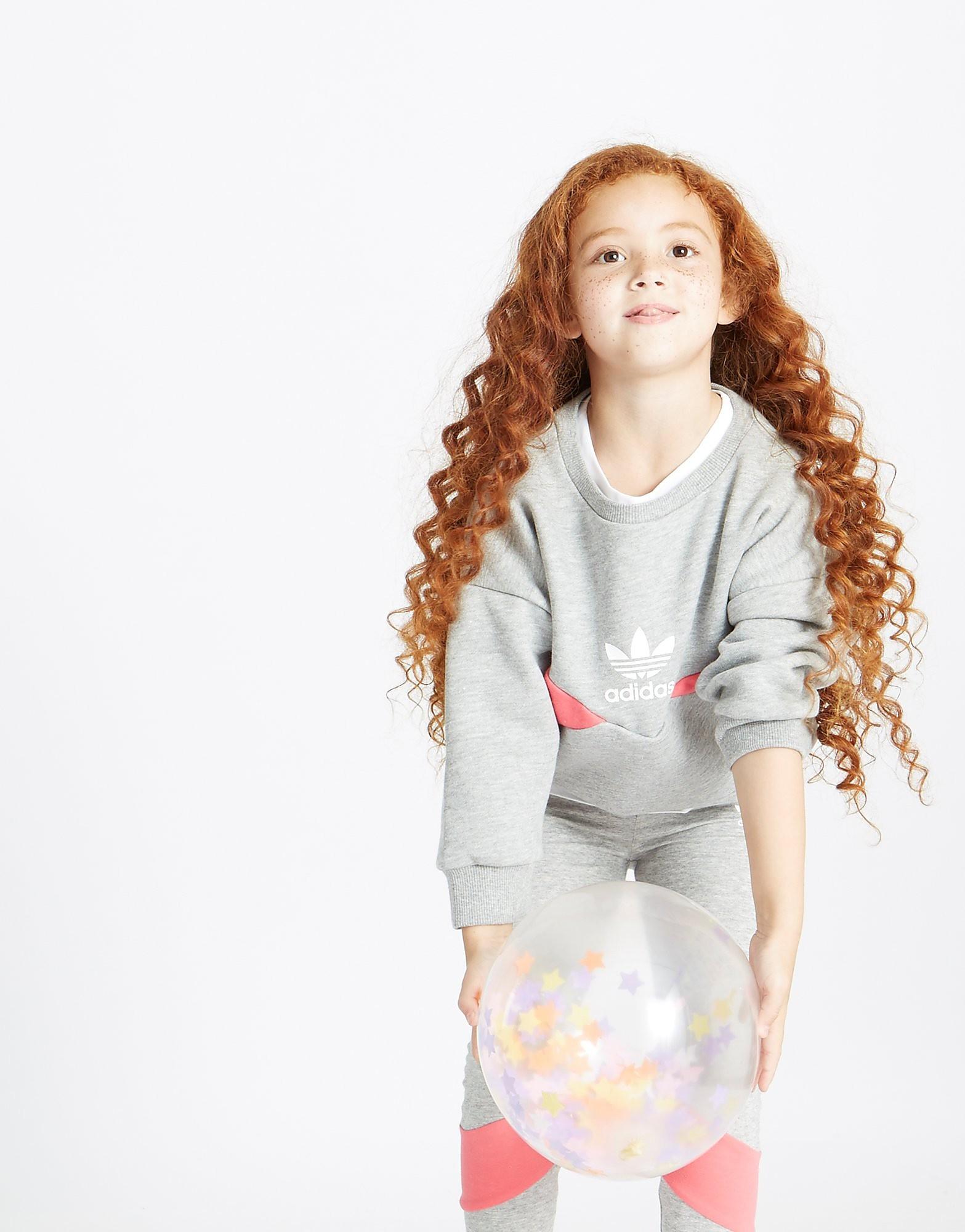 adidas Originals Girls' Crew Sweatshirt/Leggings Set Children