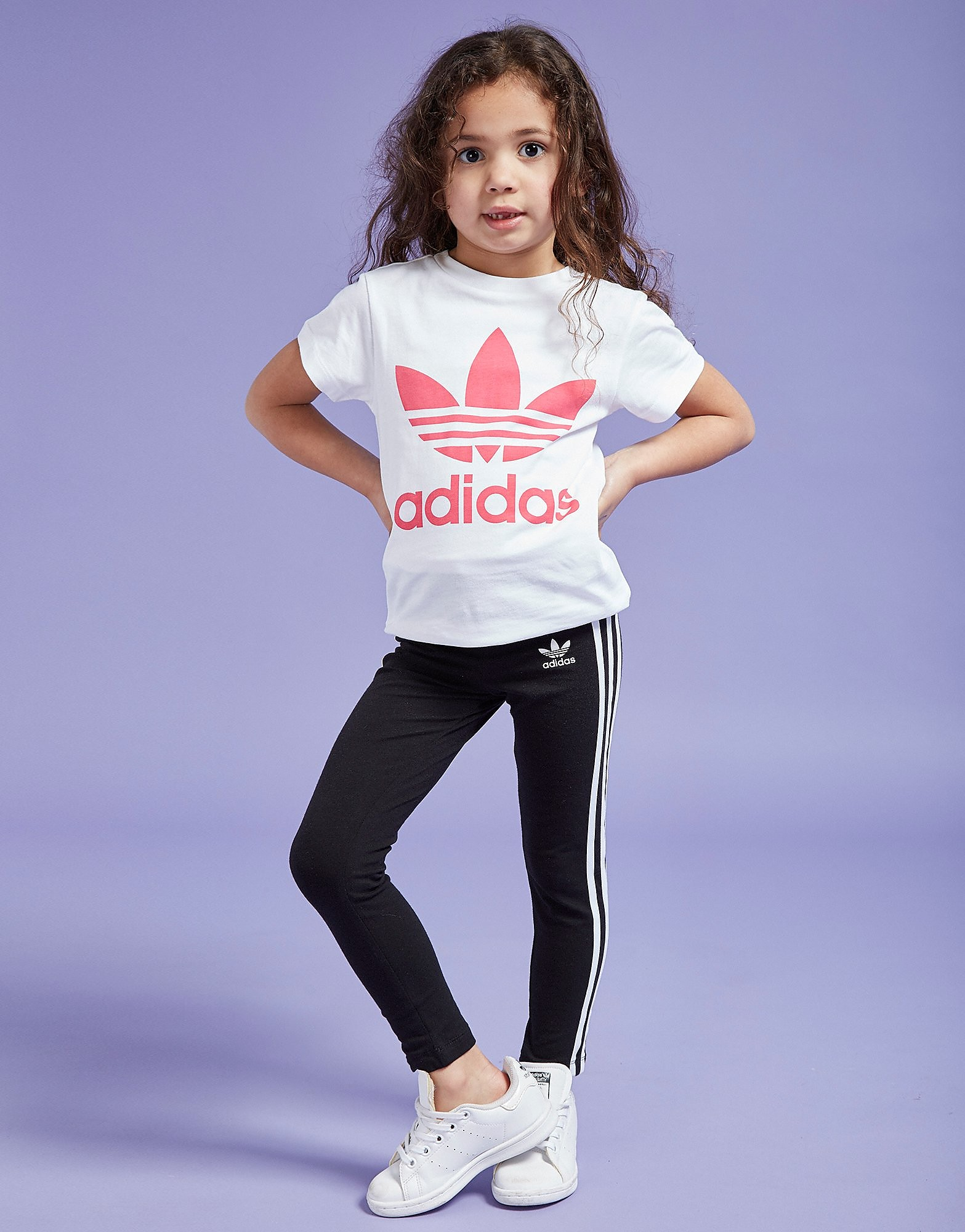 adidas Originals Girls' 3- Stripes Leggings Children