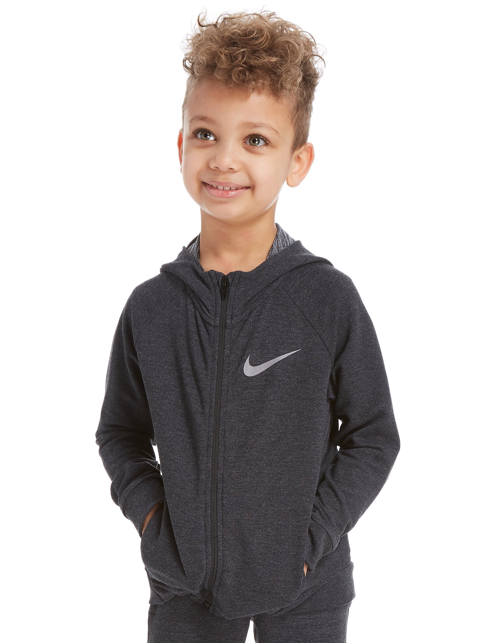 Nike Dri-FIT Full Zip Hoodie Kinderen - Grijs - Kind