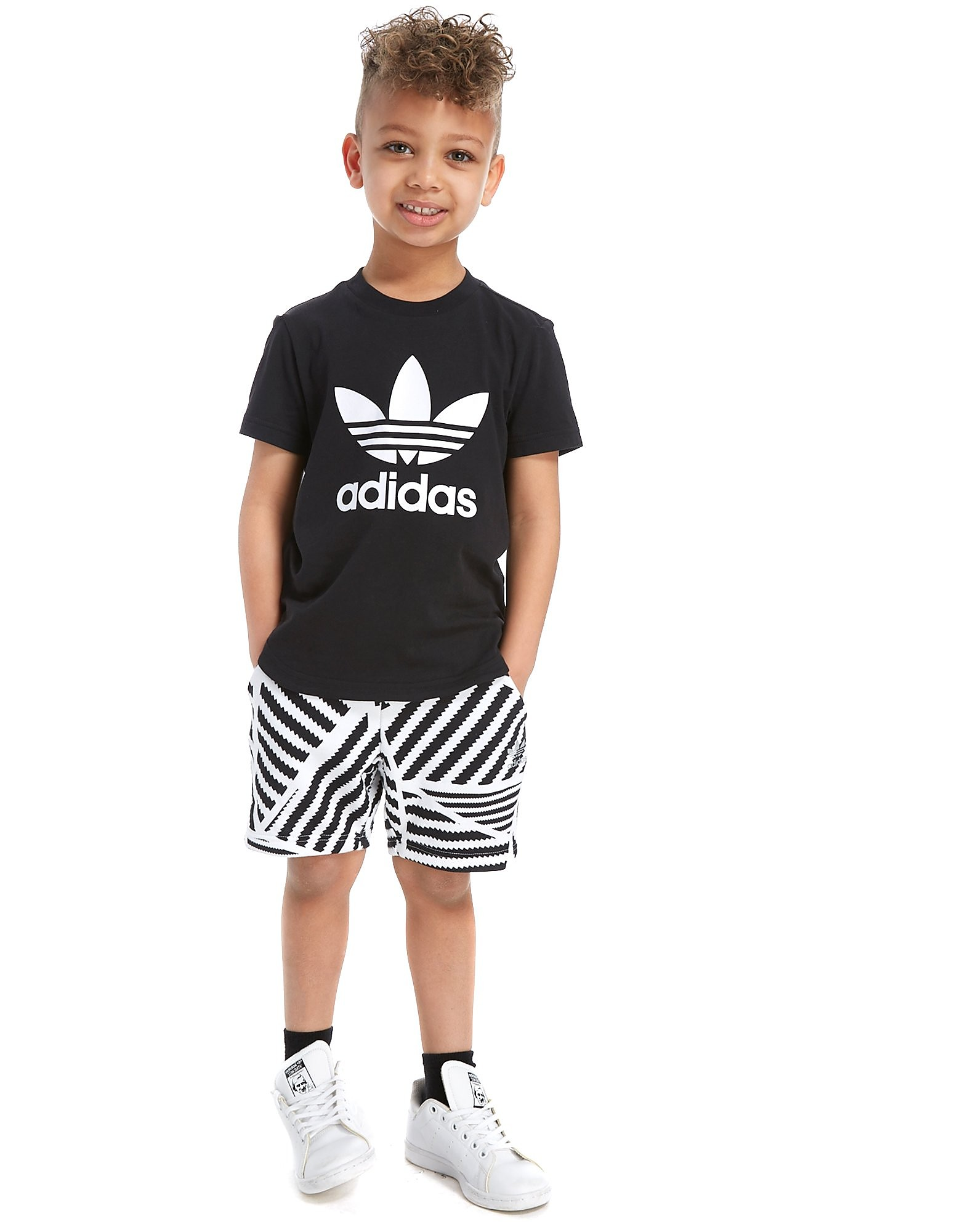 adidas Originals Print T-Shirt & Shorts Set Children