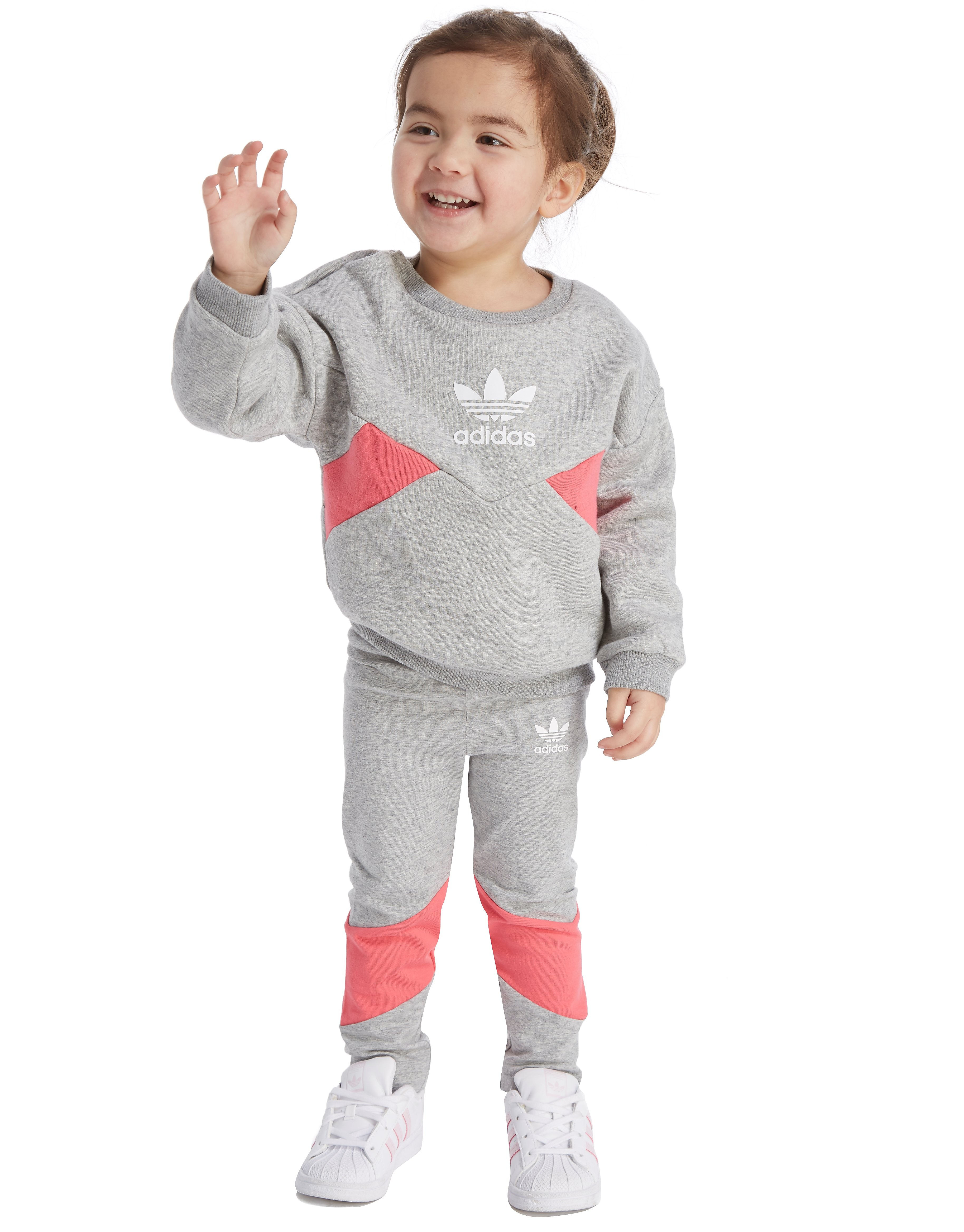 adidas Originals Girls' Crew/Leggings Set Infant