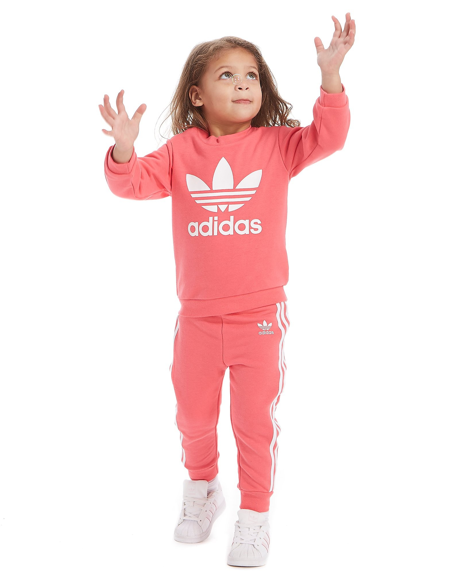 adidas Originals Girls' Adicolor Crew Suit Infant