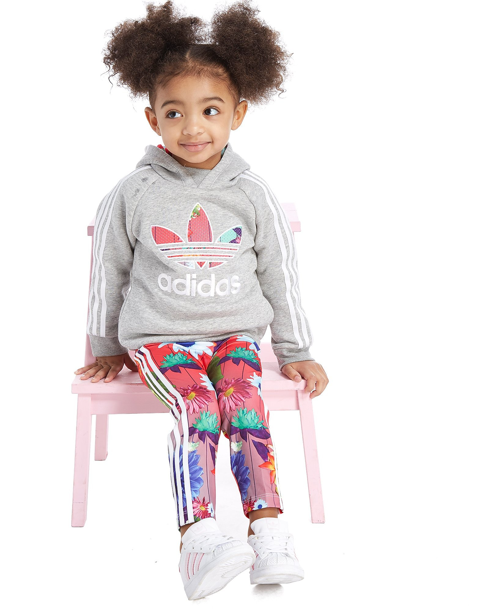 adidas Originals Girls' Graphic Hoodie/Leggings Set Infant