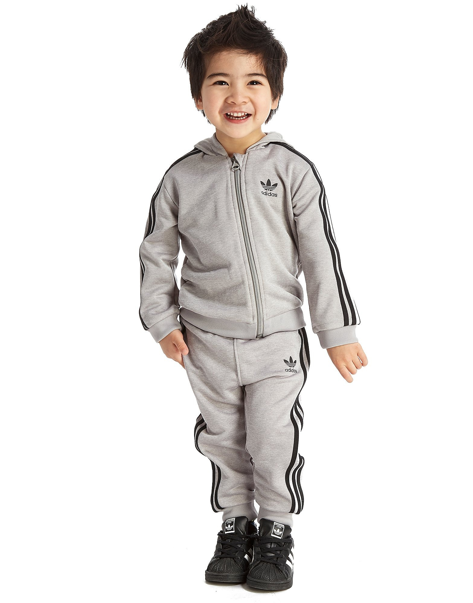 adidas Originals Full Zip Poly Hooded Suit Baby's