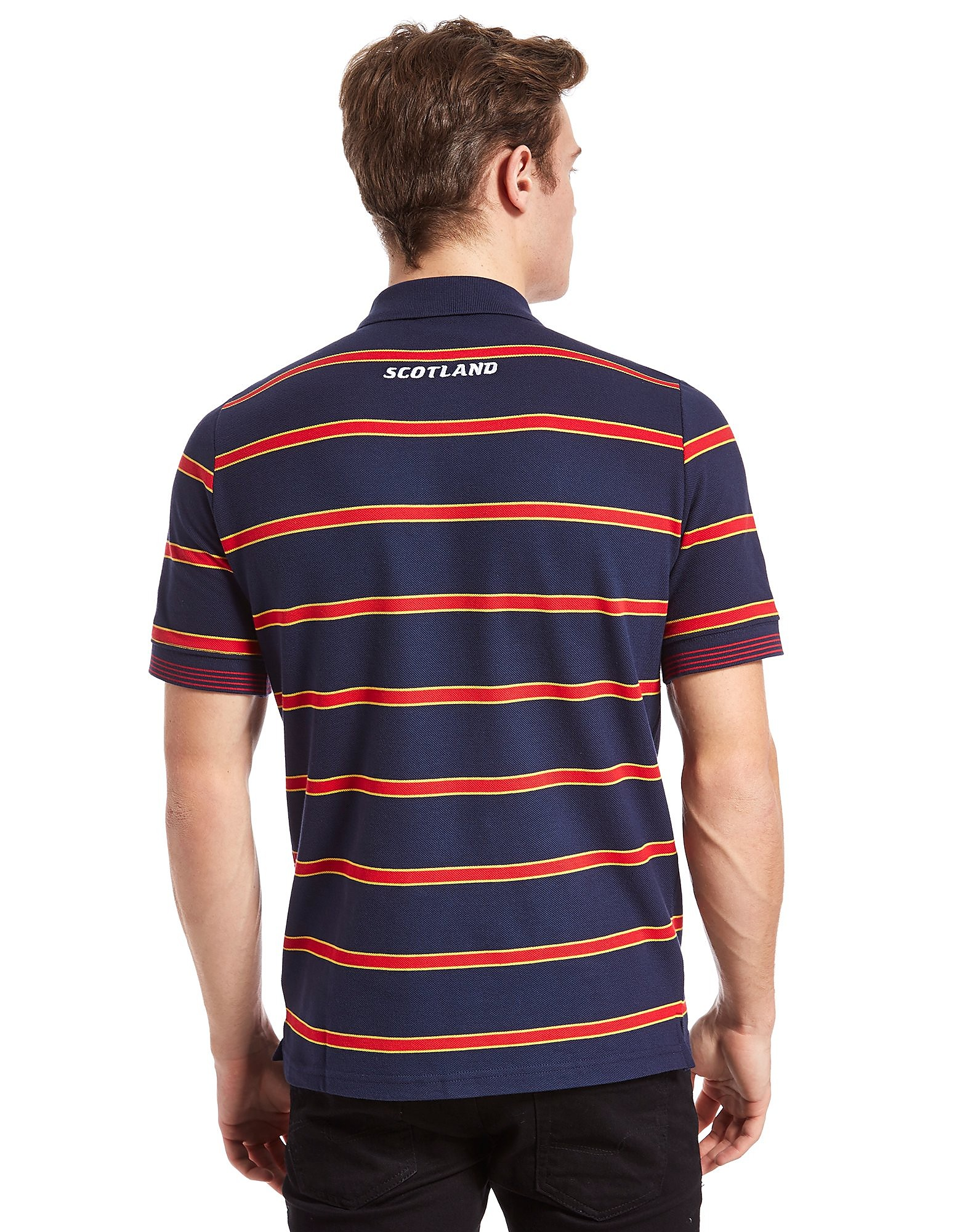 Macron Scotland Rugby Striped Polo Shirt