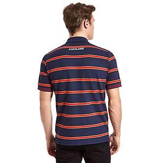 Macron Scotland Rugby Striped Polo Shirt