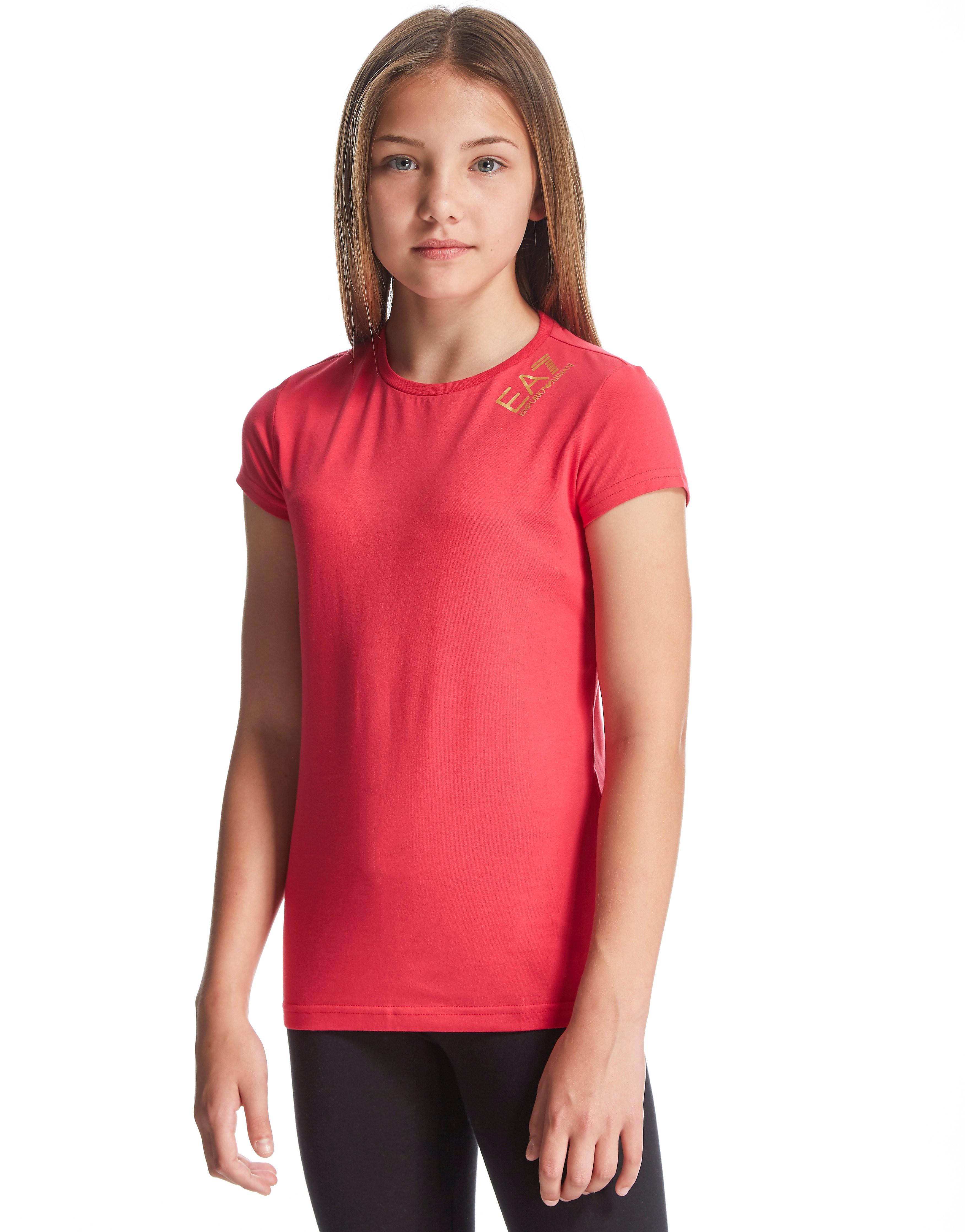 Emporio Armani EA7 Girls' Small Logo T-Shirt Junior