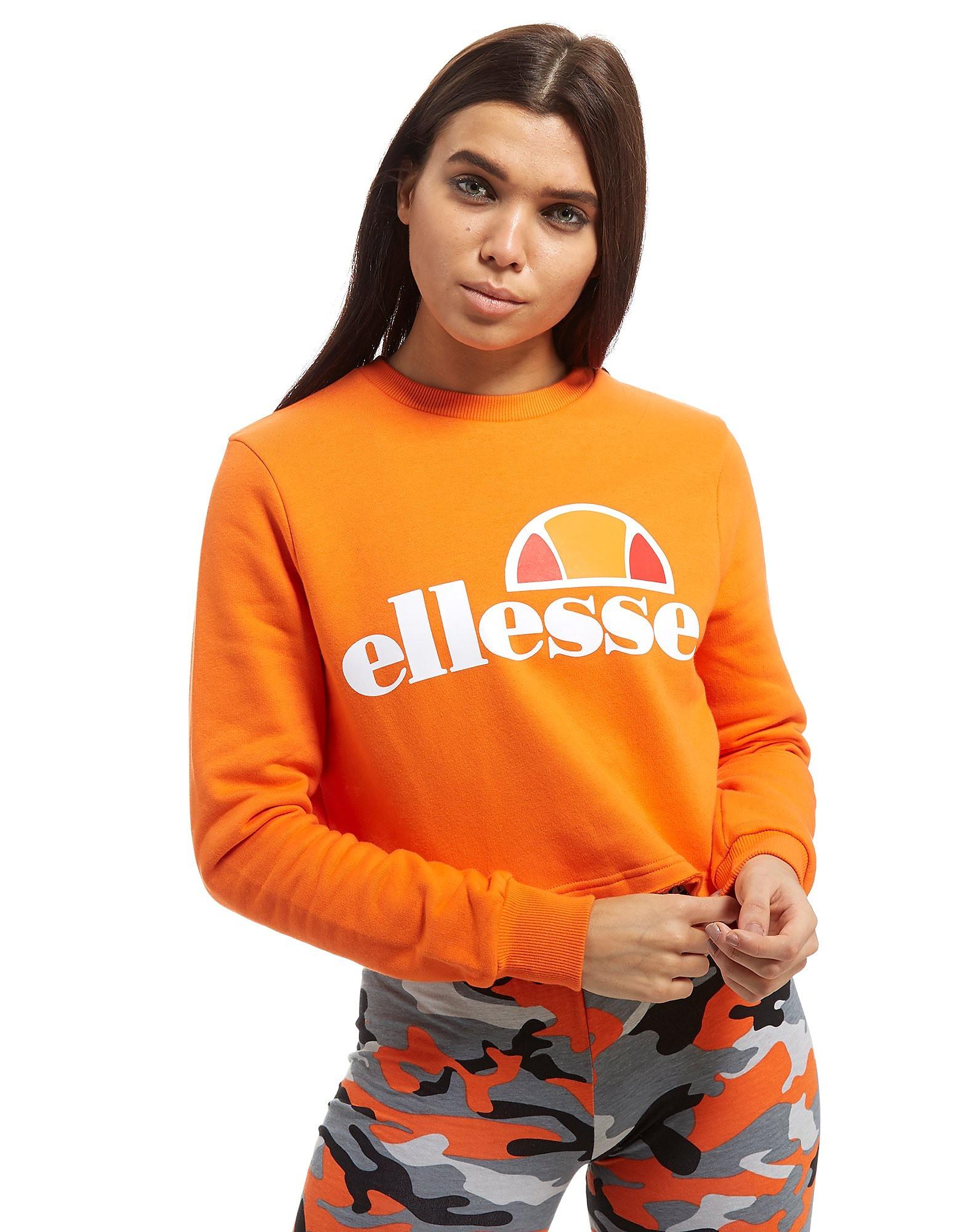 Ellesse Logo Cropped Crew Sweatshirt