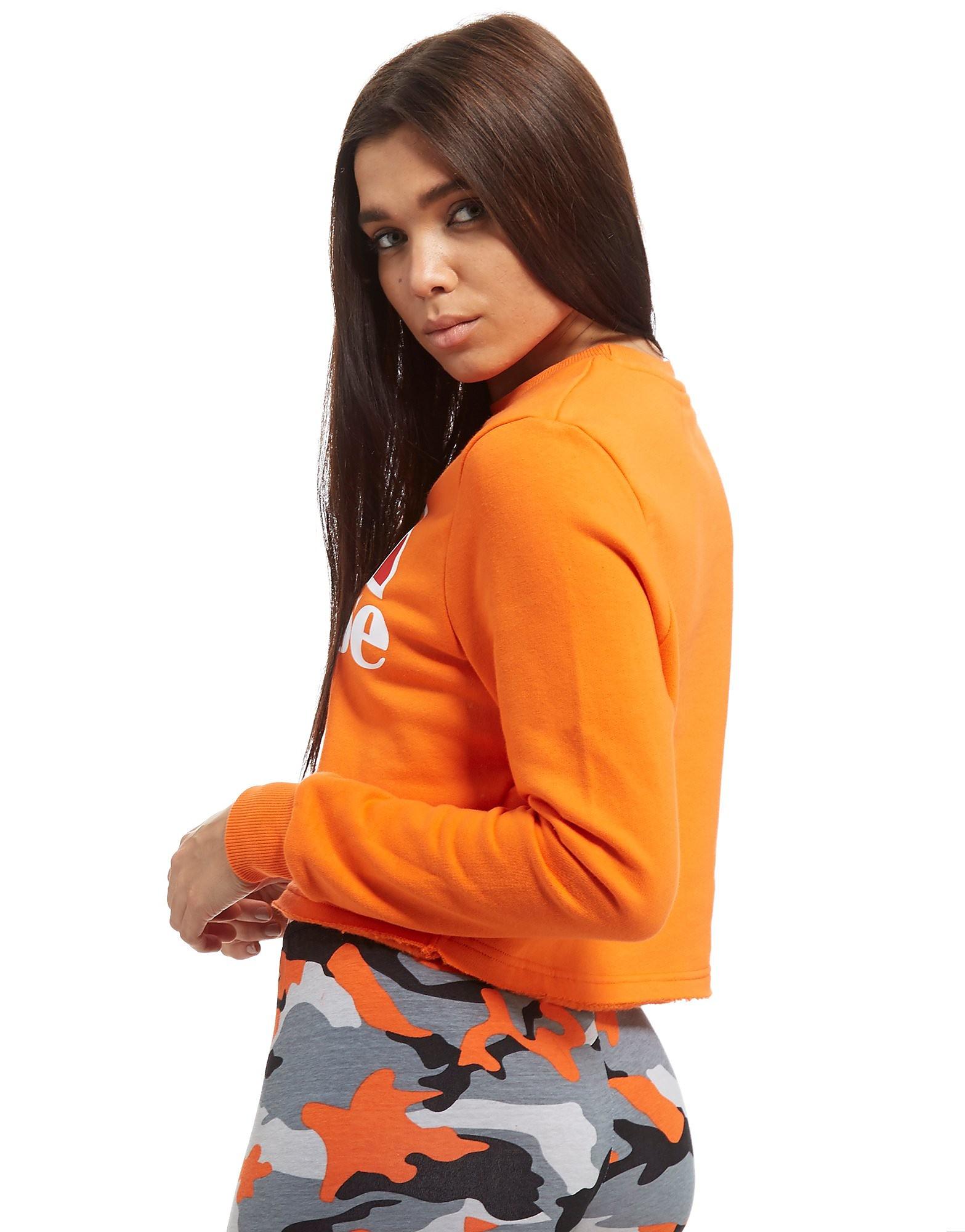 Ellesse Logo Cropped Crew Sweatshirt Dames