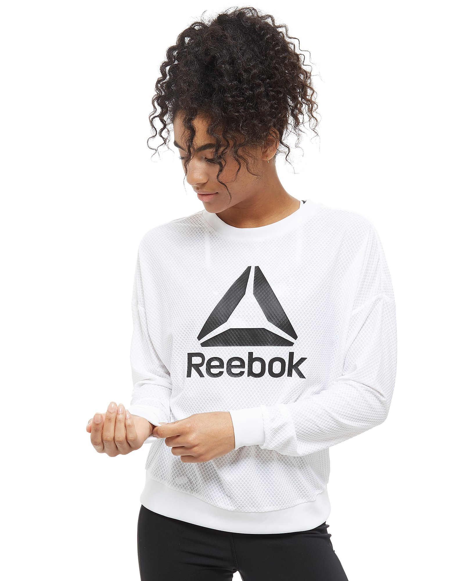 Reebok Mesh Logo Crew Sweatshirt