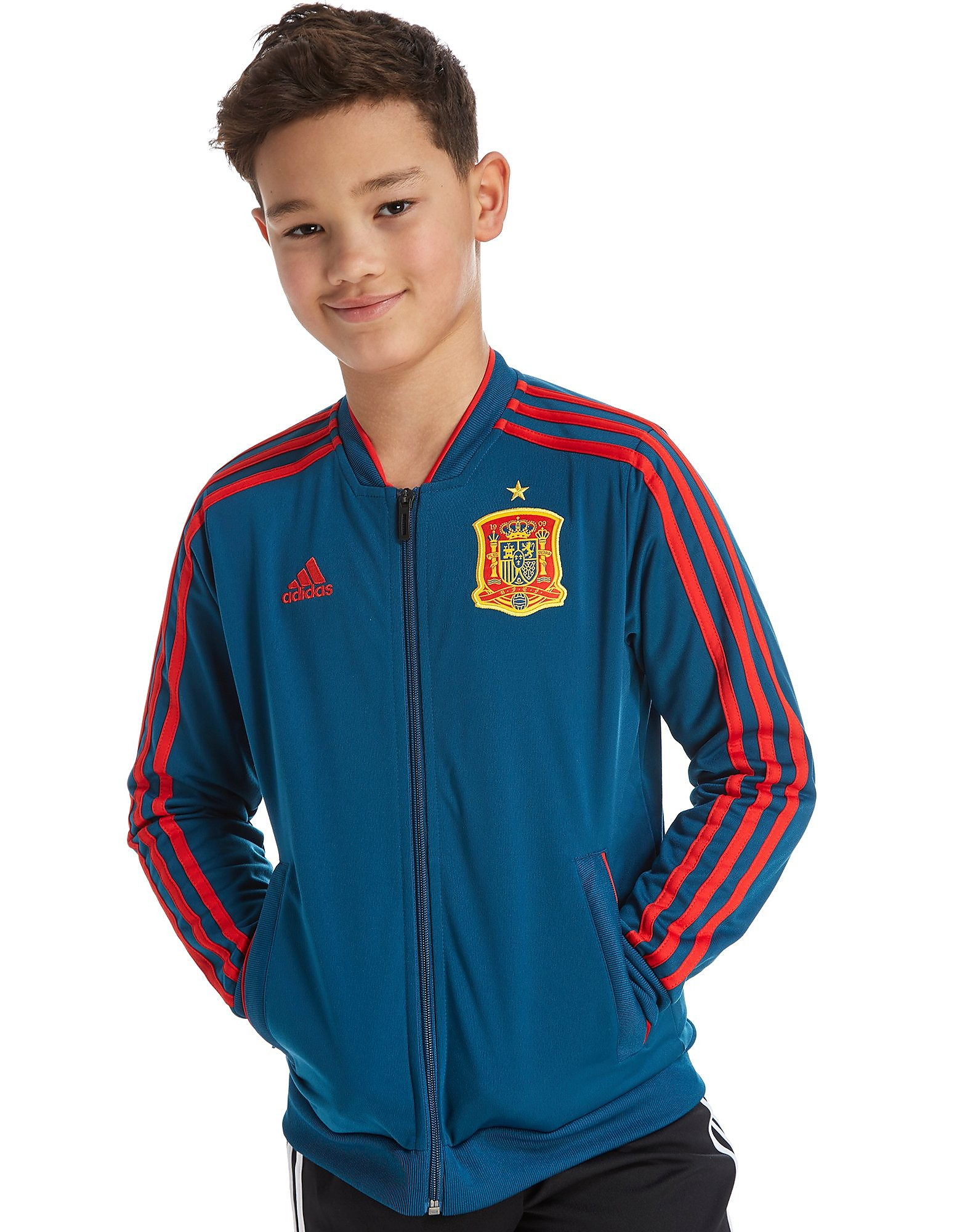 adidas Spain 2018 Präsentationsjacke Junior Blau