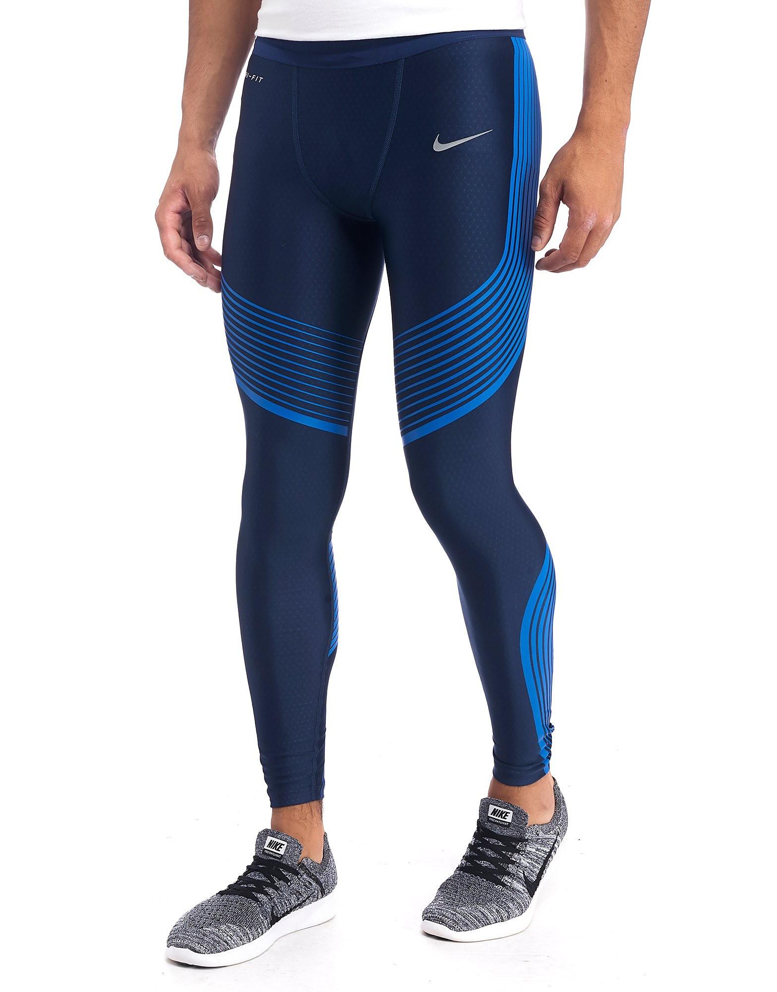 Nike Power Speed Running Tights - Black/Midnight Blue - Mens - Sports King  Store
