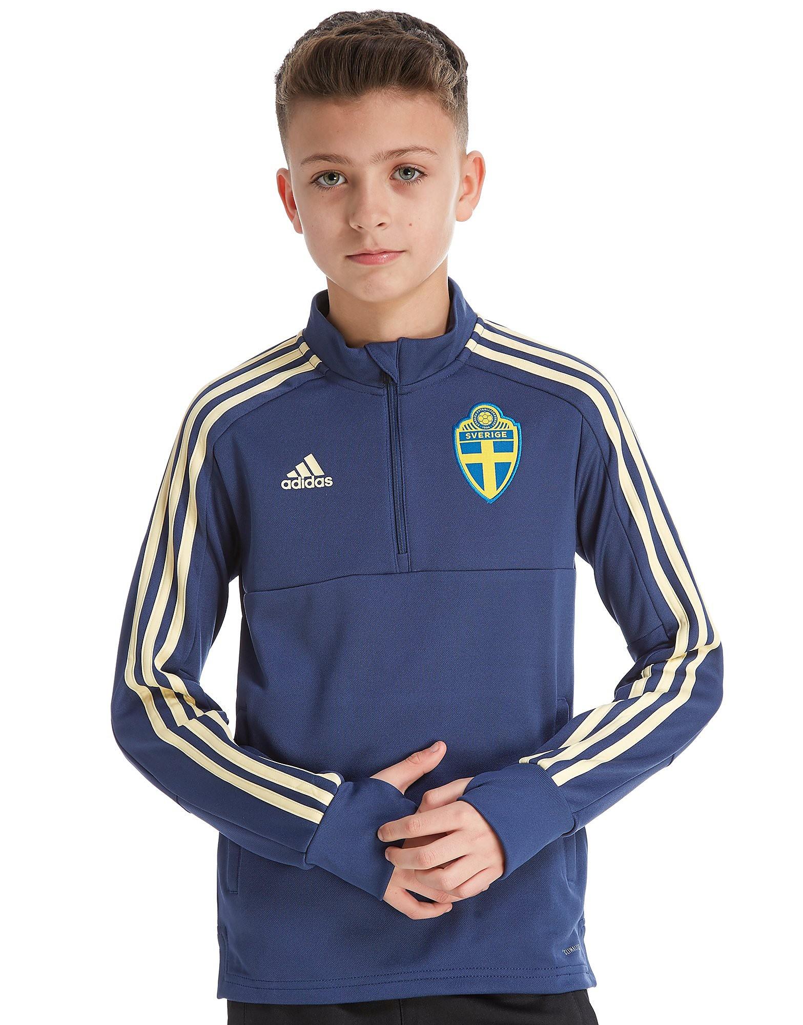 adidas Sweden 2018 1/4 Zip Training Top Junior
