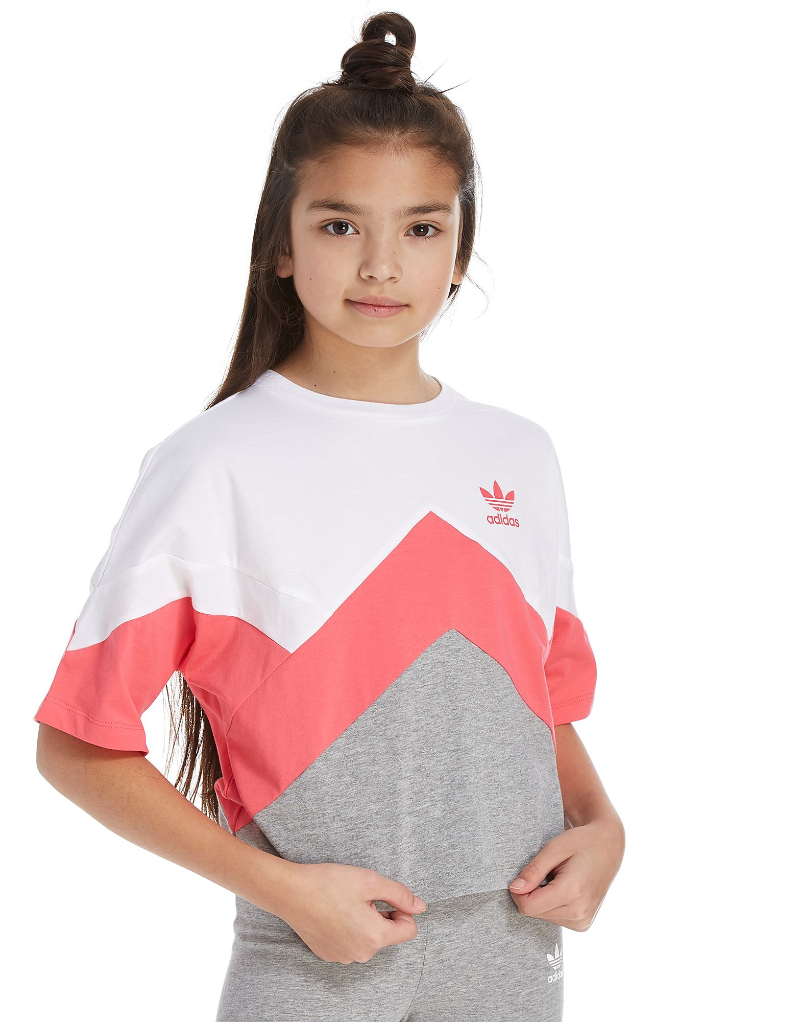 adidas Originals Girls' MOA Crop T-Shirt Junior