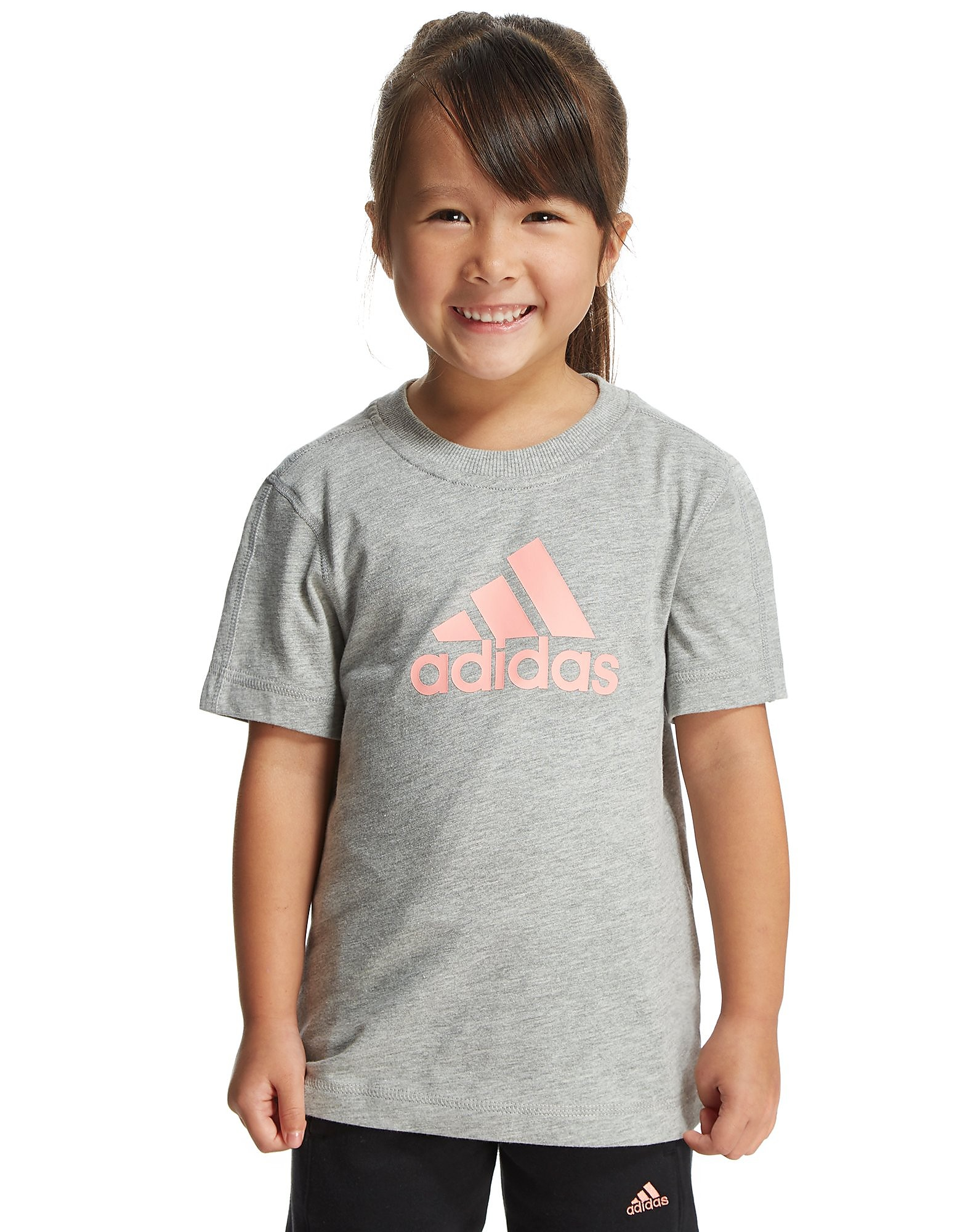 adidas Girls' Essentials Logo T-Shirt Children