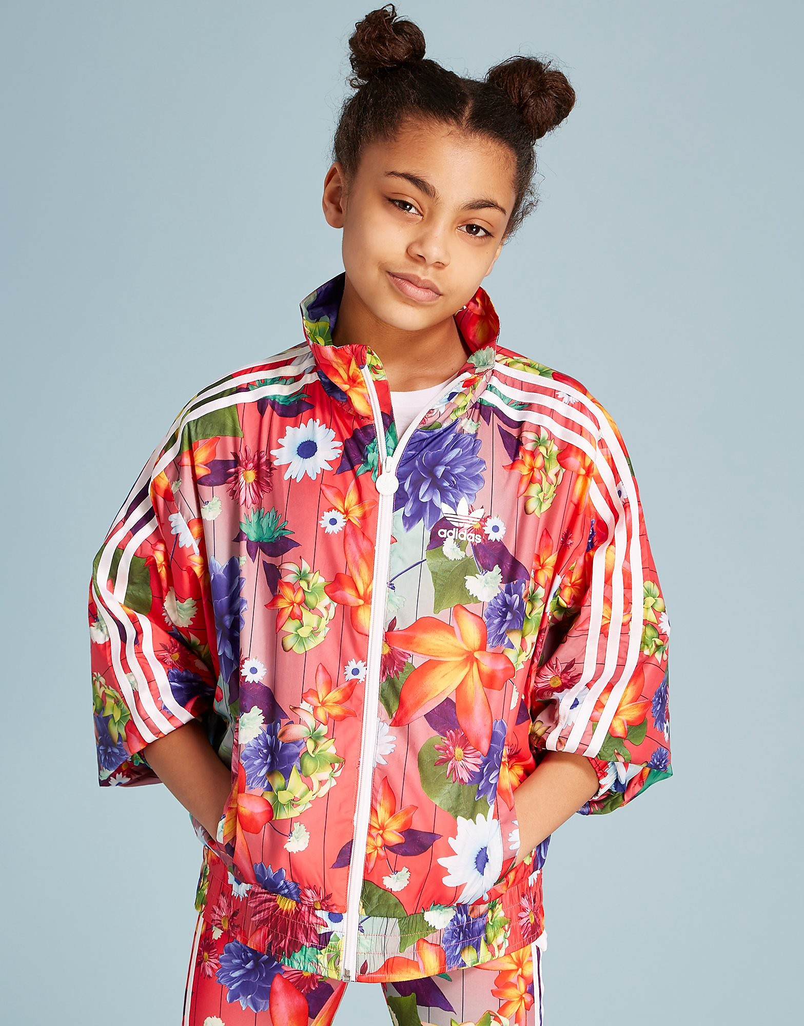 adidas Originals Floral All Over Print Windbreaker Jacket Junior