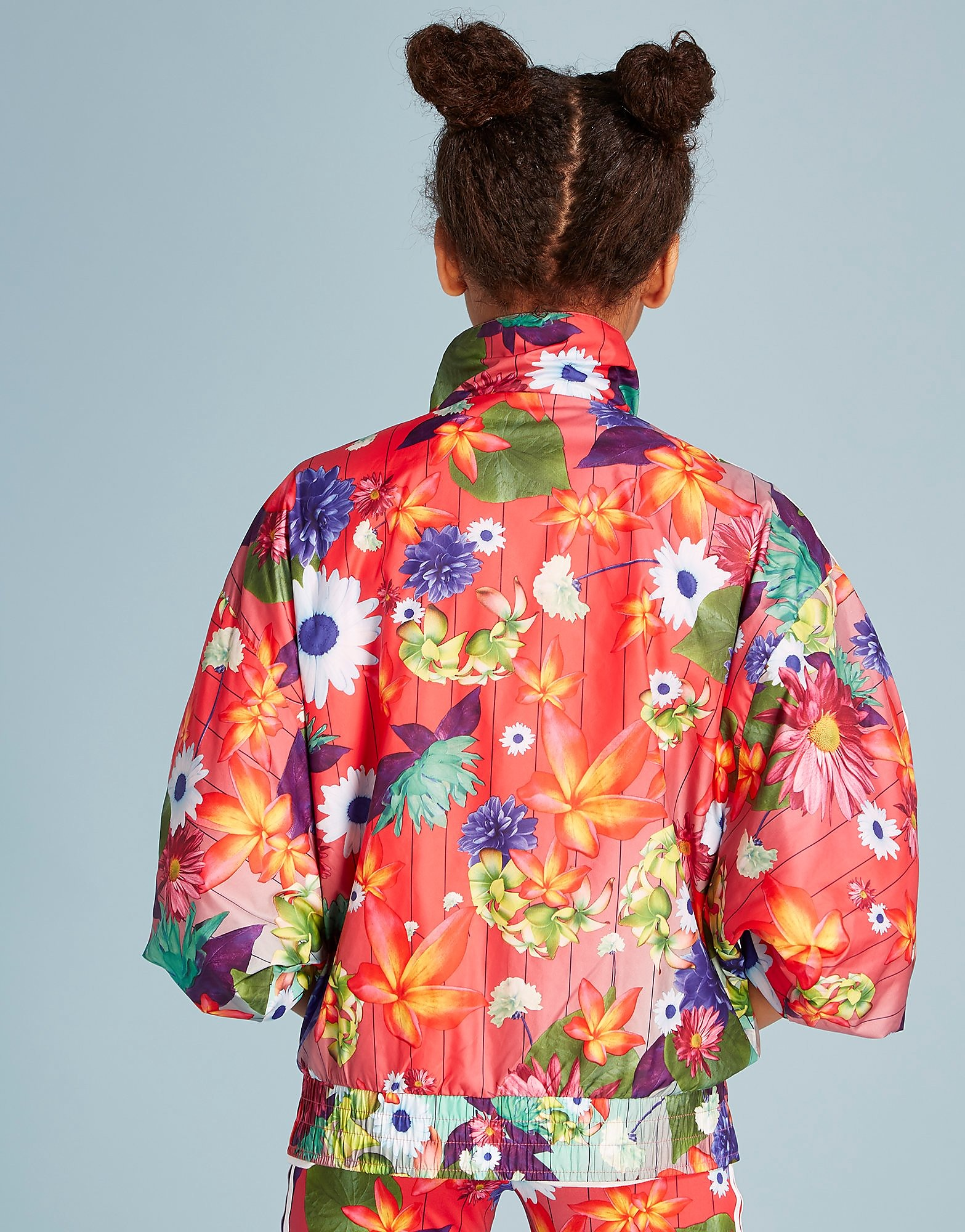 adidas Originals Floral All Over Print Windbreaker Jacket Junior