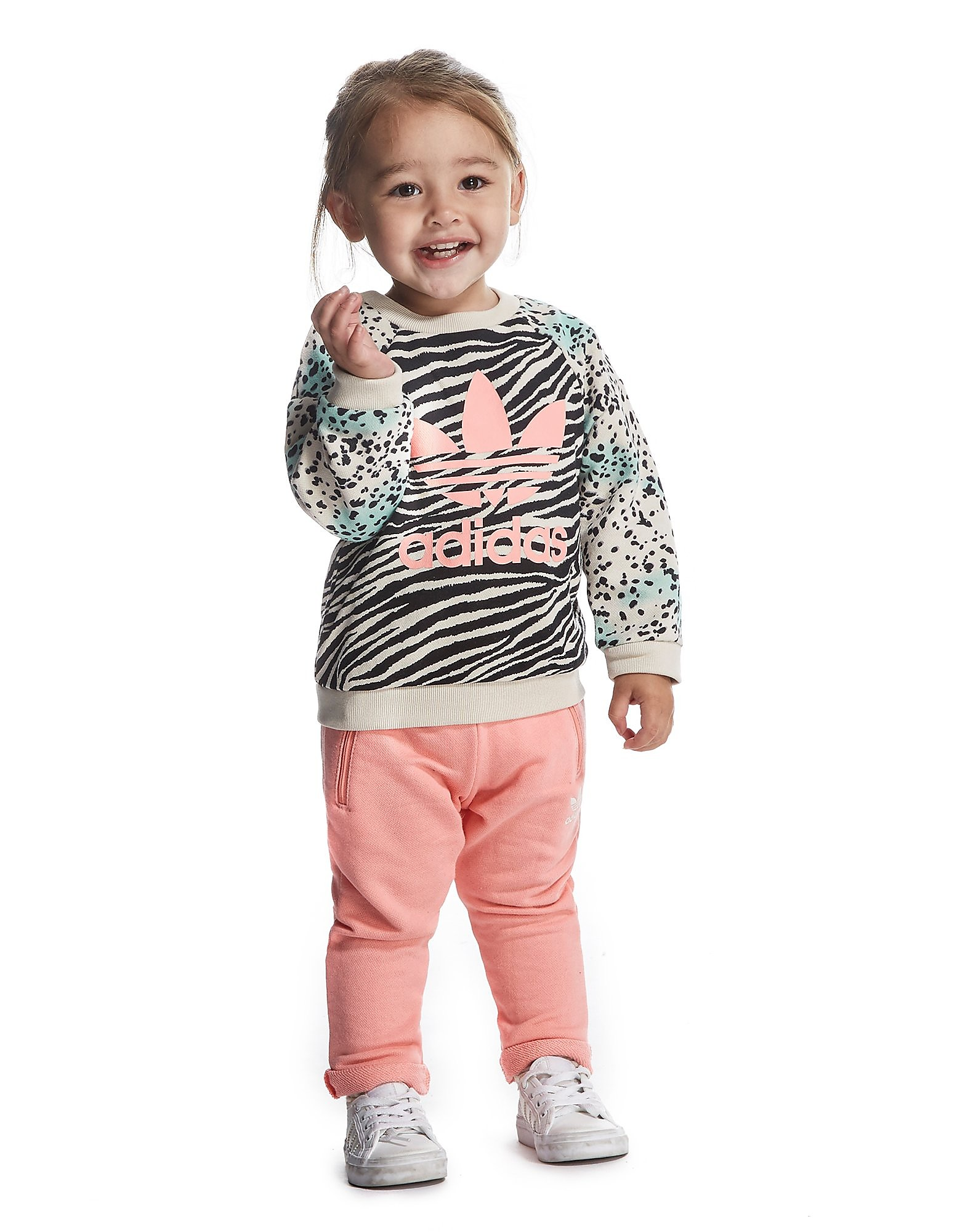 adidas Originals Girls Animal Crew Suit Infant