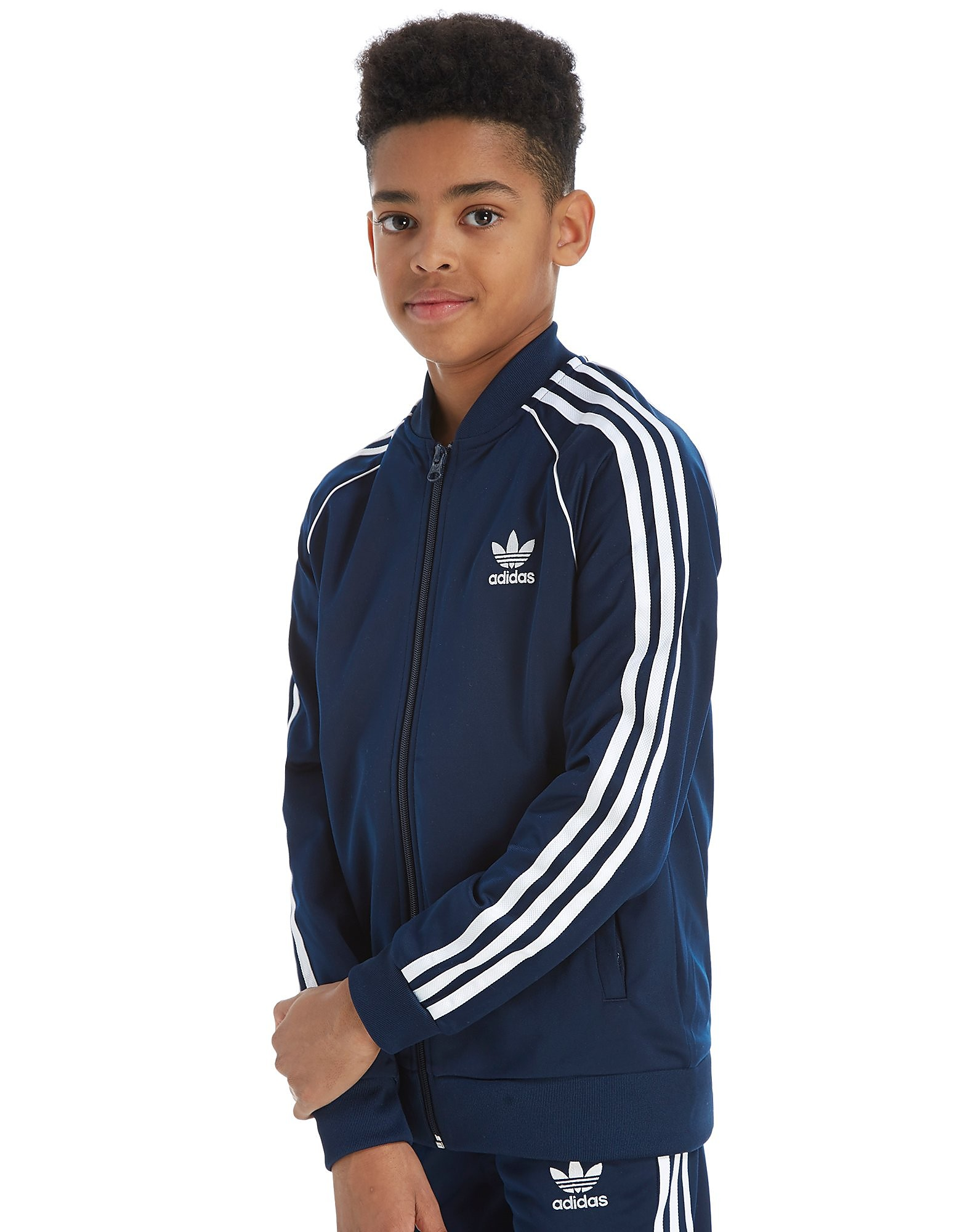 adidas Originals Superstar Trainingsoberteil Junior Marineblau-Weiß