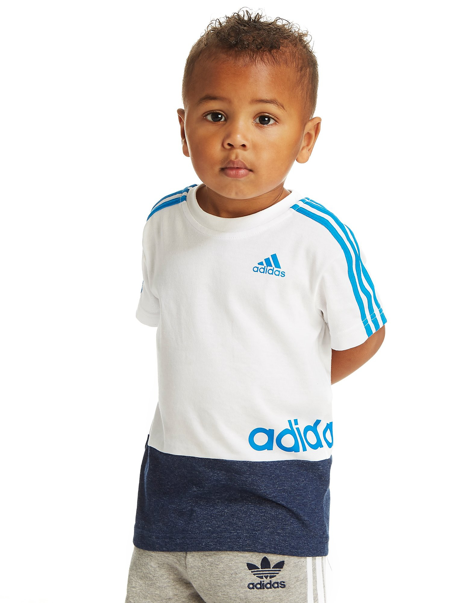 adidas Linear Colourblock-T-Shirt - Kleinkinder