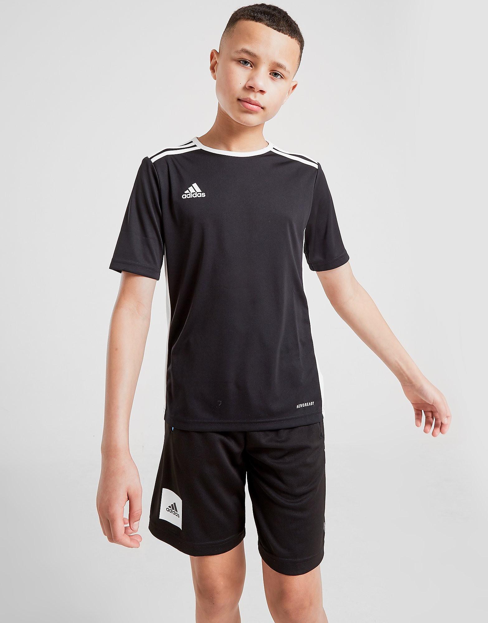 adidas Entrada T-Shirt Junior Zwart Kind