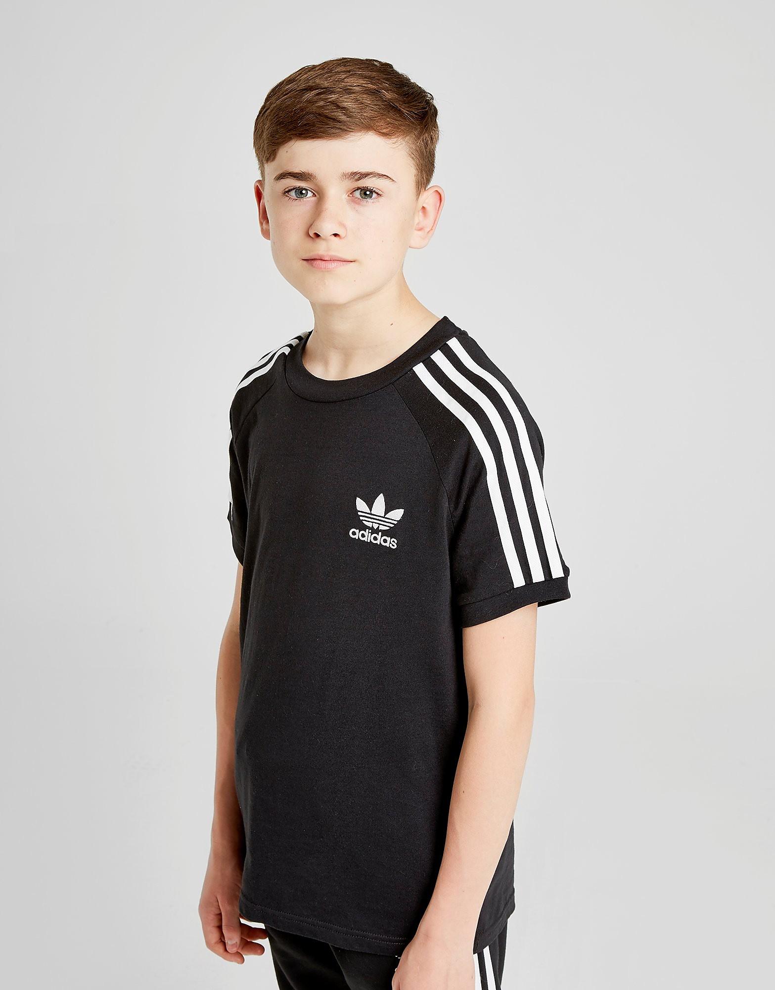adidas Originals California T-Shirt Junior Schwarz-Weiß
