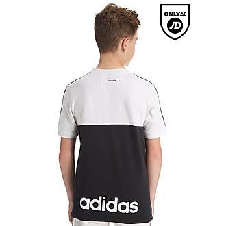 adidas Linear Colour Block T-Shirt Junior