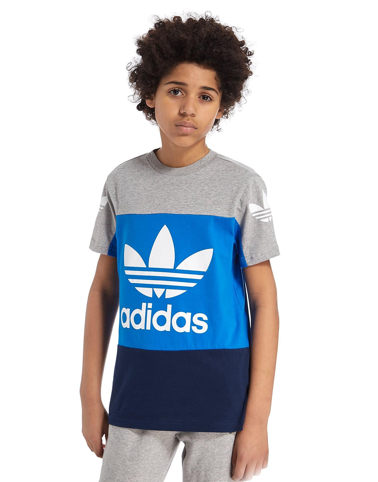 adidas Originals Trefoil geradliniges Colourblock-T-Shirt - Kinder