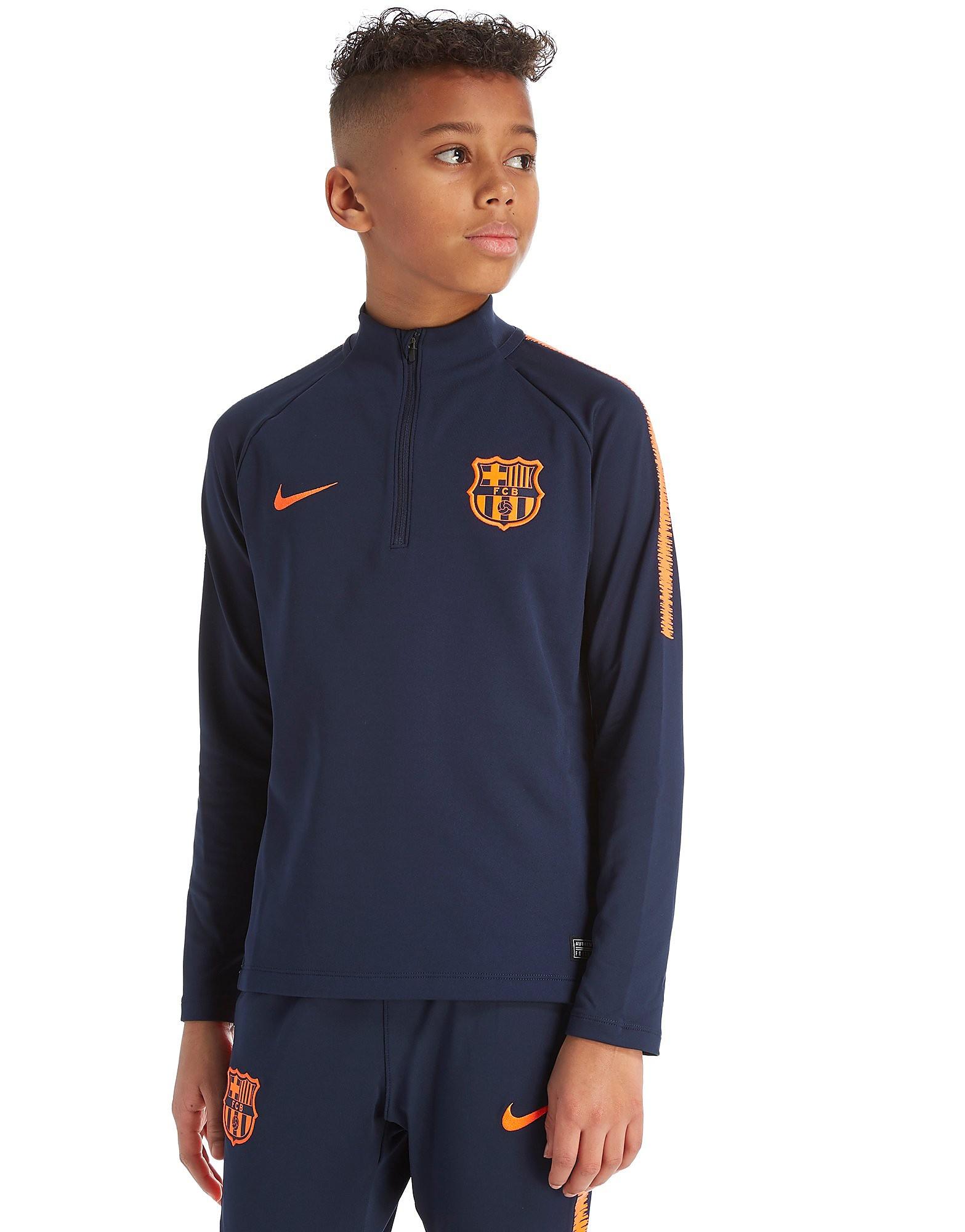 Nike FC Barcelona Dry Squad Drill 1/4 Zip Top Junior