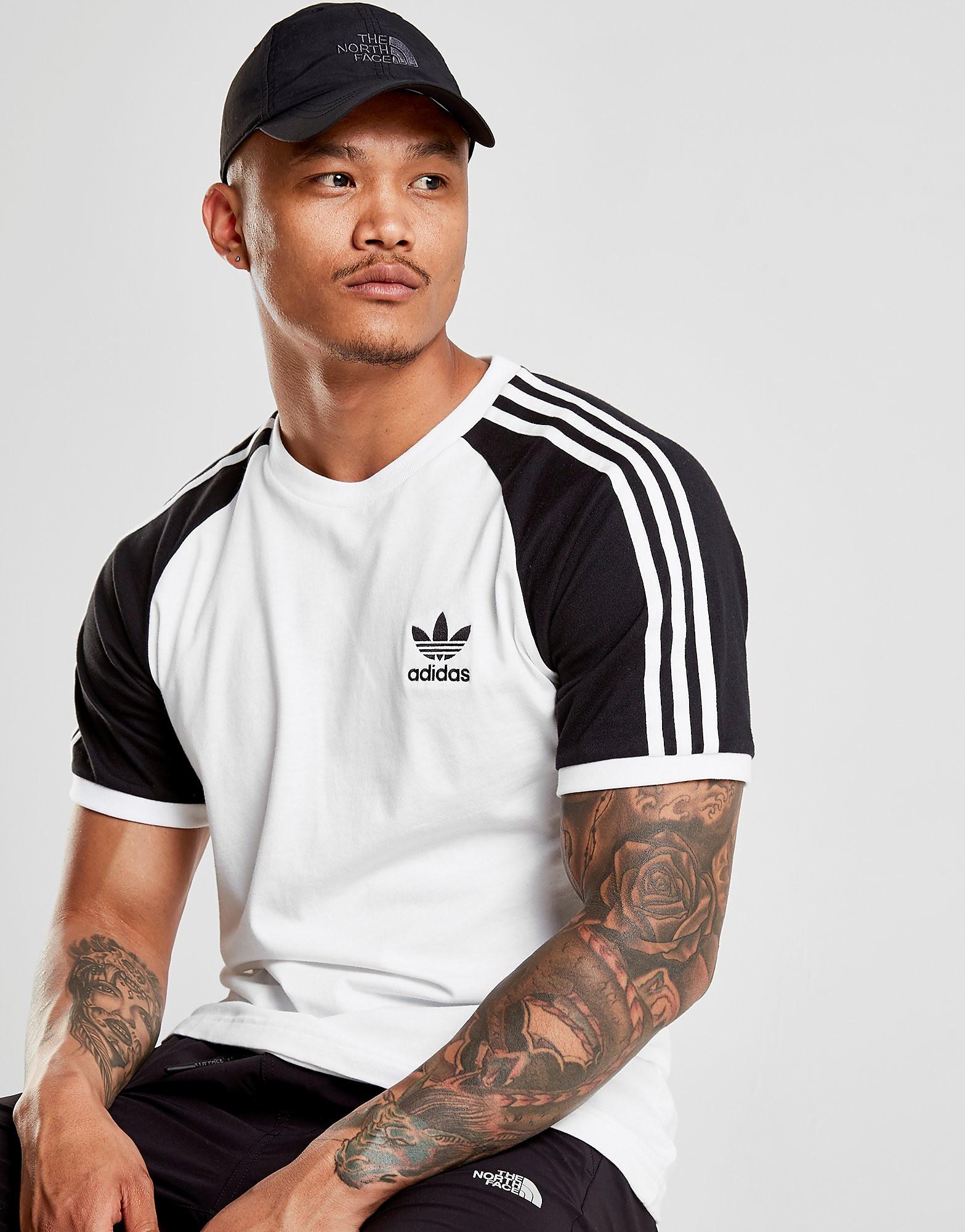 adidas Originals California Raglan Sleeve T-Shirt Heren - Wit - Heren
