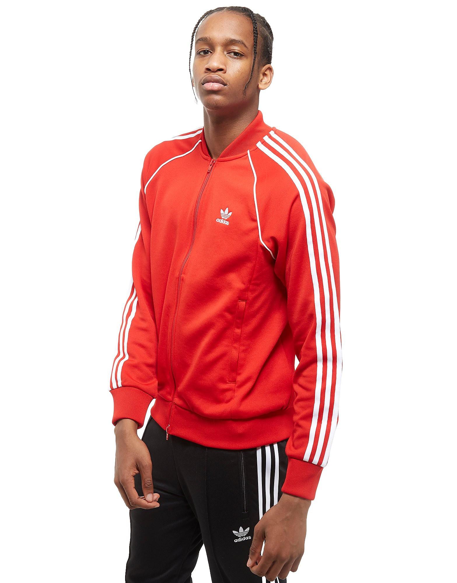 adidas Originals Superstar Voller Reißverschluss Trainingsoberteil Rot-Zinnober