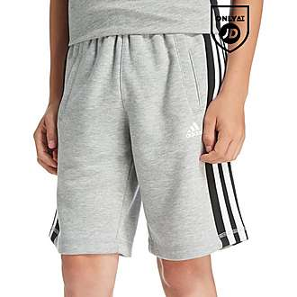 adidas 3 Stripe Fleece Shorts Junior