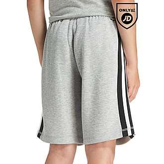 adidas 3 Stripe Fleece Shorts Junior