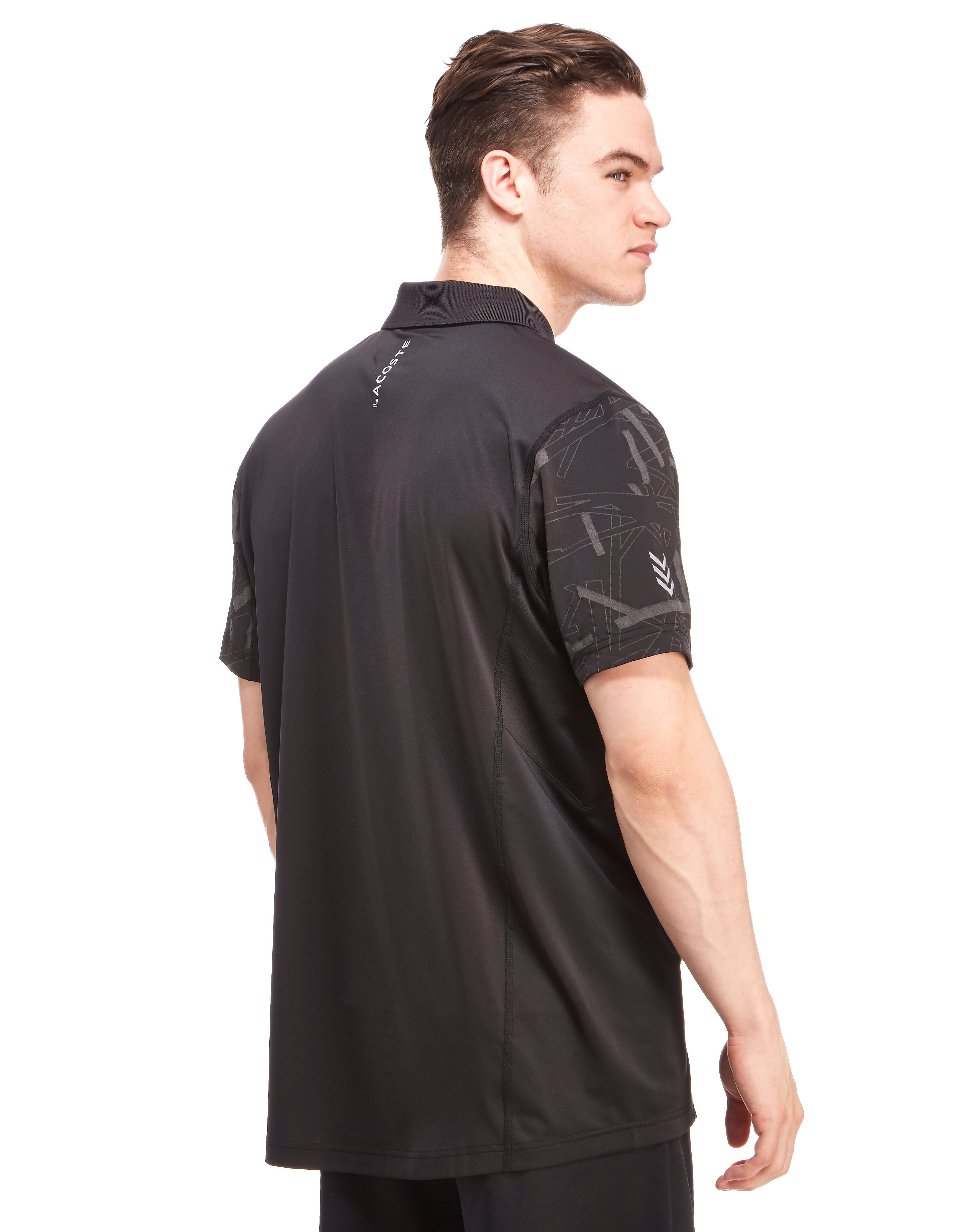 Lacoste 3M Print Poly Zip Polo Shirt