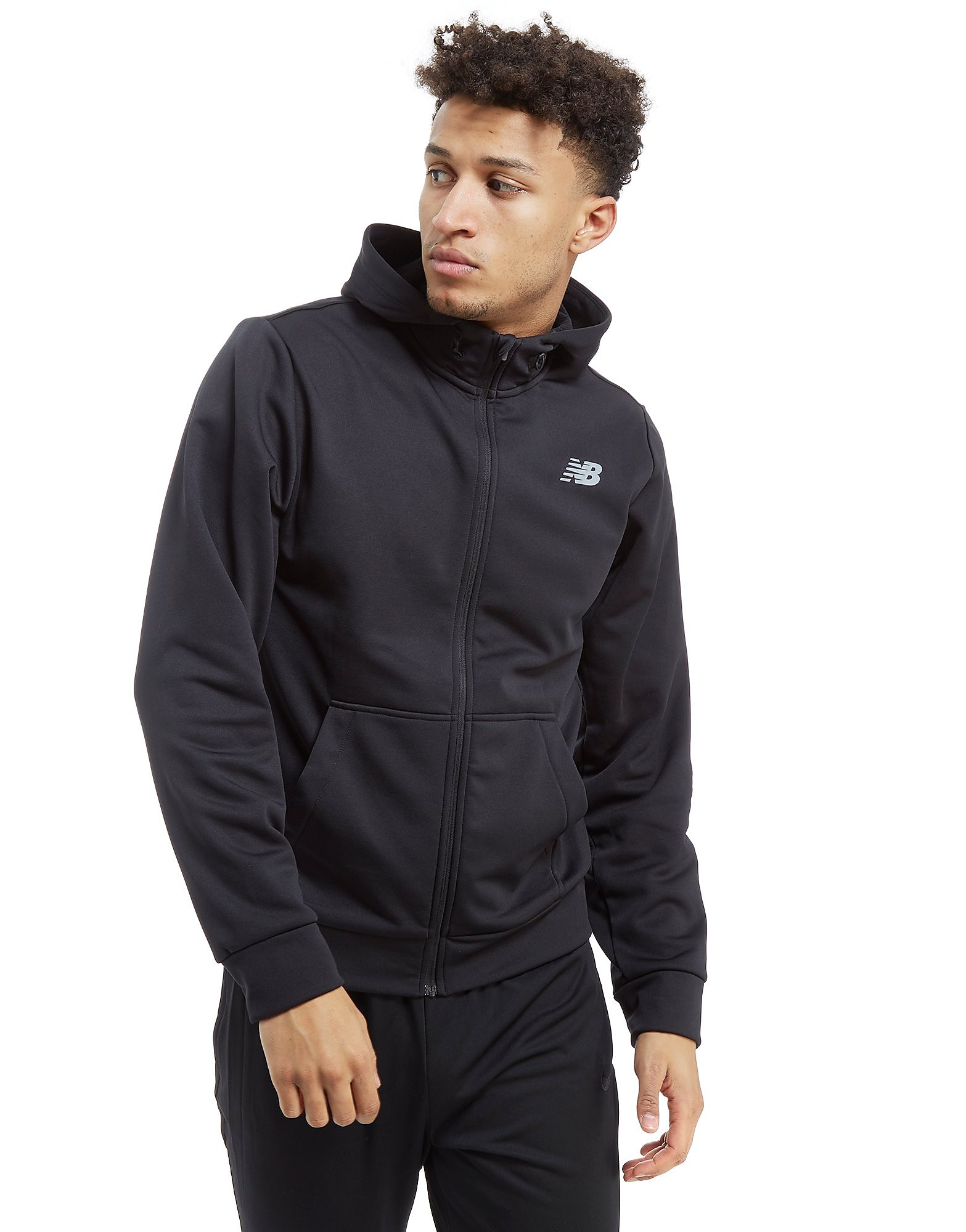 New Balance Core Full Zip Poly Hoodie Heren