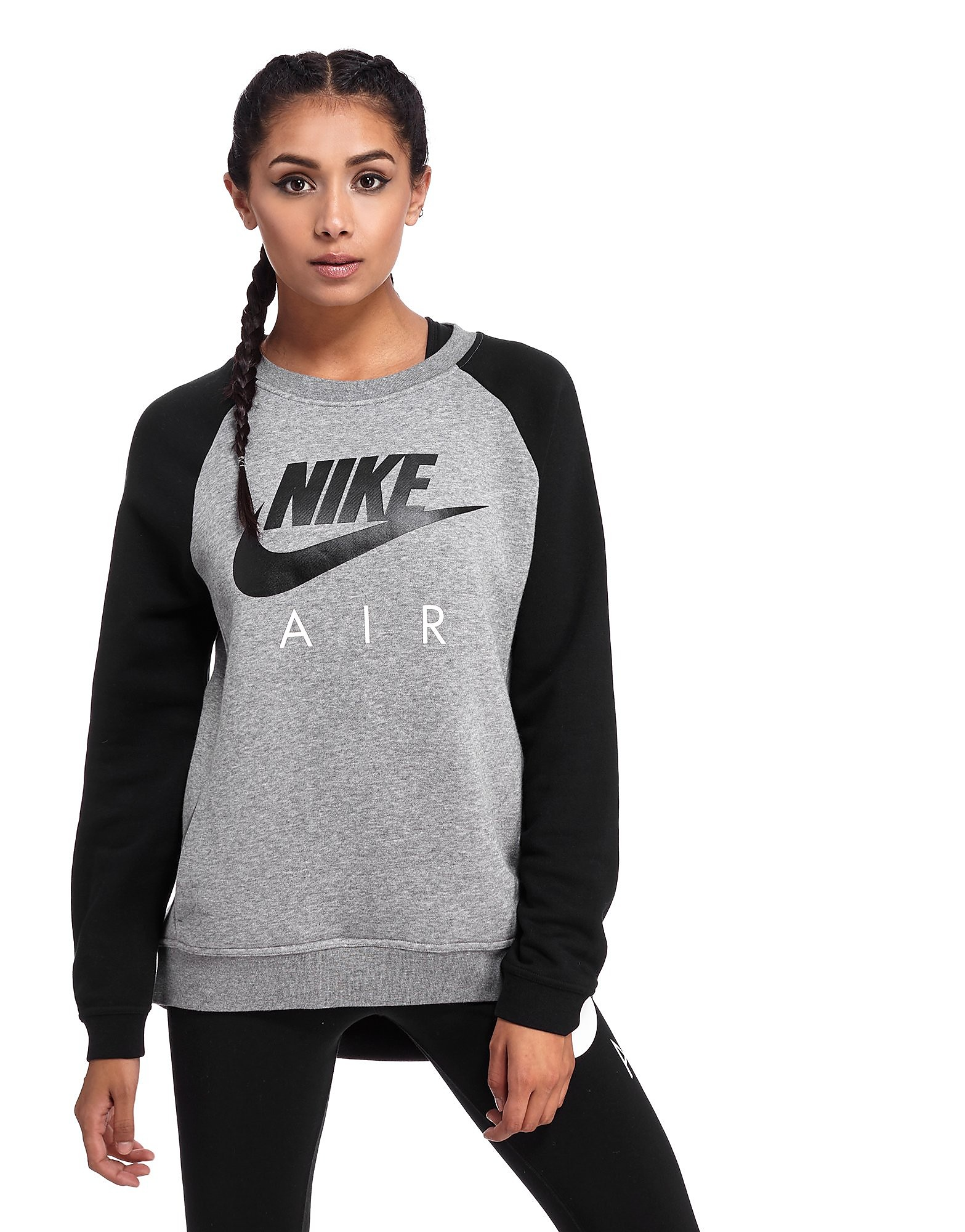 Nike Air Crew Sweatshirt - Dark Grey Black - Womens - Sports King Store d06dd9c10c