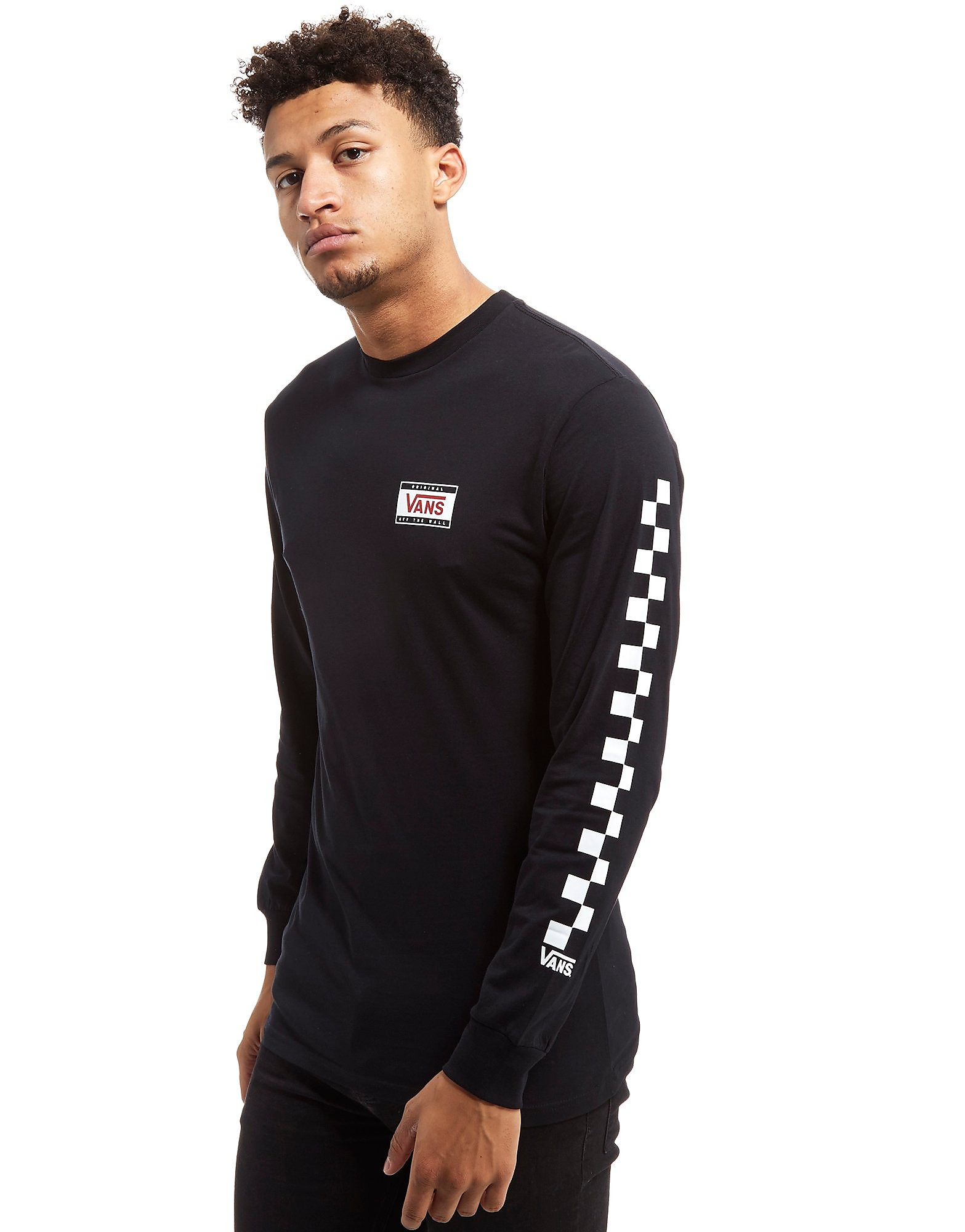 Vans Checkerboard Long Sleeve T-Shirt Heren