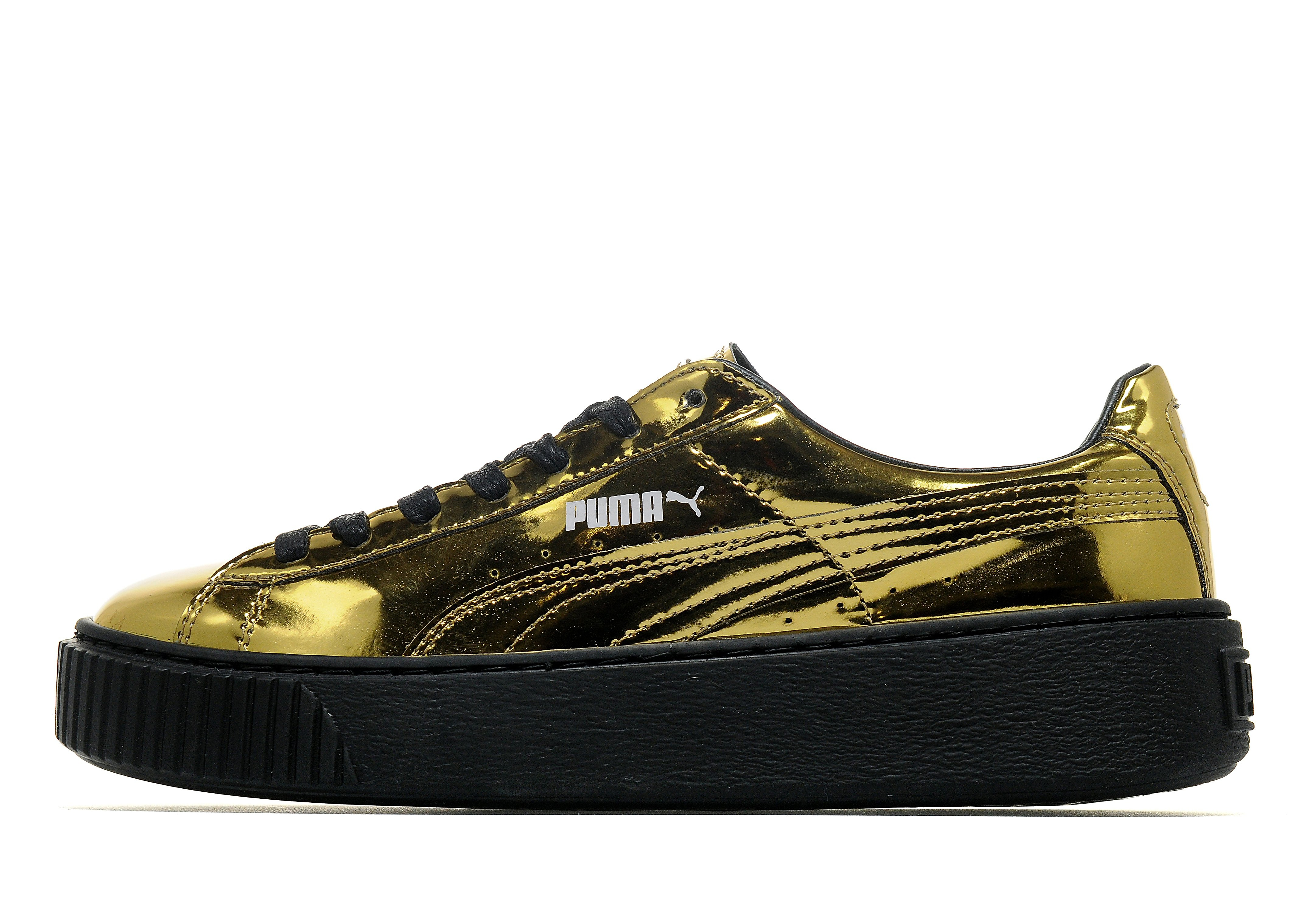 PUMA Basket Platform Metallic Women's