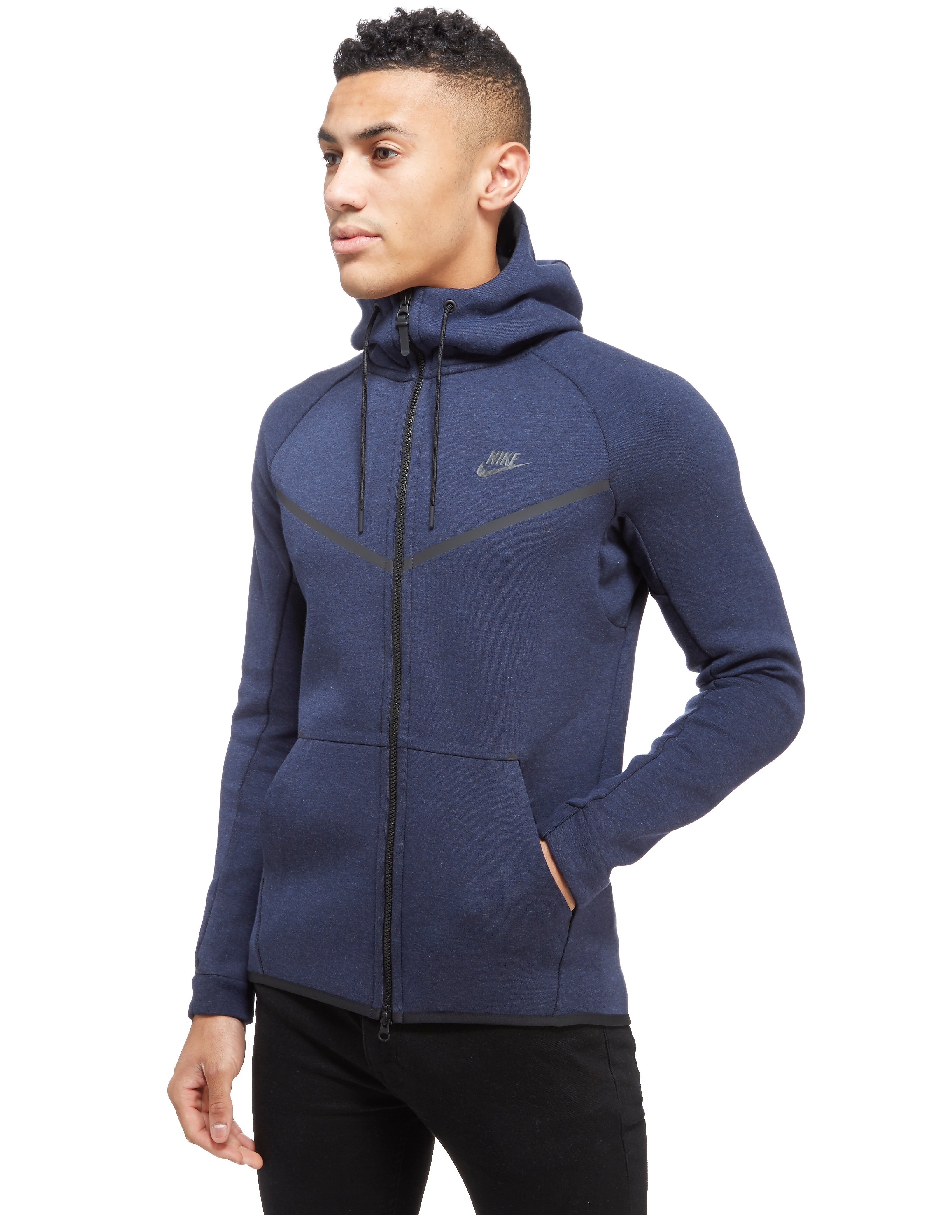 Nike Tech Fleece Windrunner Hoody Blue Mens Sports King Store