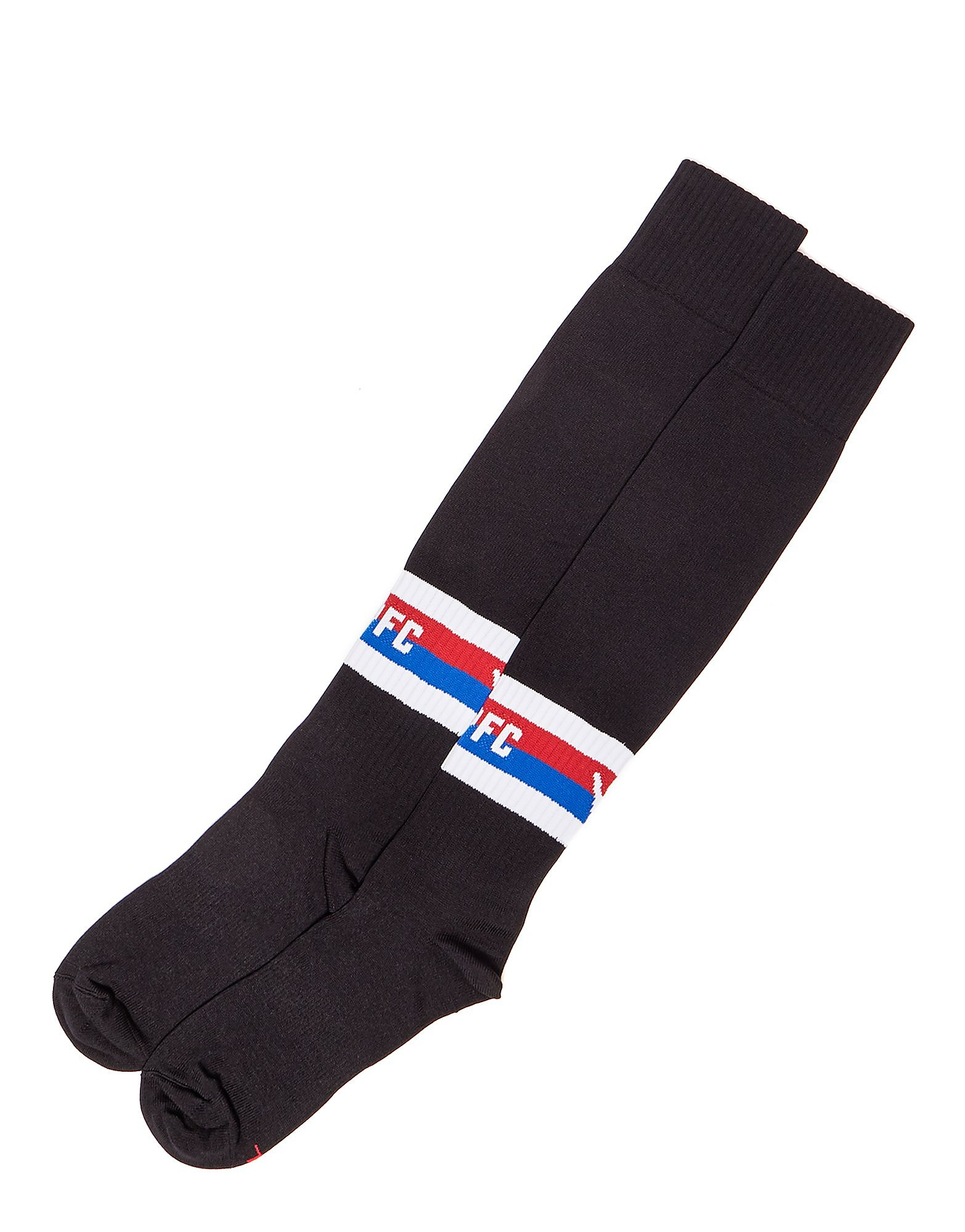 Macron Chaussettes Crystal Palace FC Away 17/18 Homme - Black/Blue/Red, Black/Blue/Red